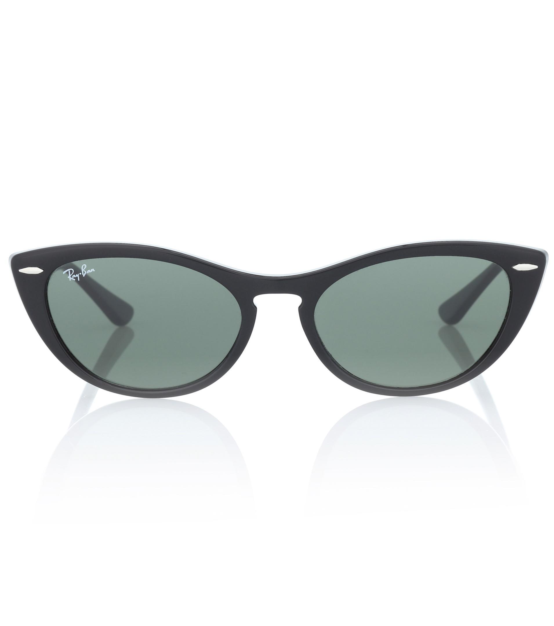 8777e9f9b Gafas de sol cat-eye Nina Ray-Ban de color Negro - Lyst