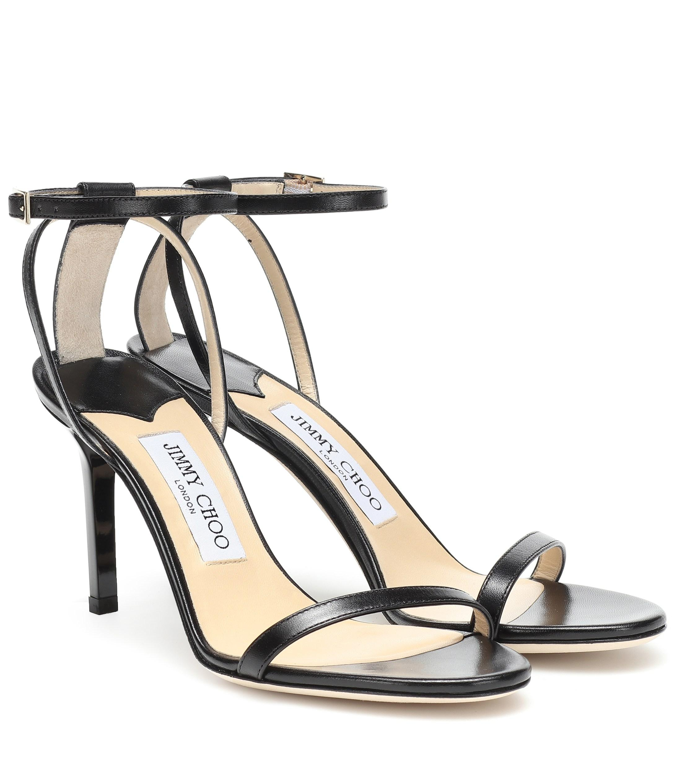 hot sale online ed043 ccc0a jimmy-choo-black-Minny-85-Leather-Sandals.jpeg