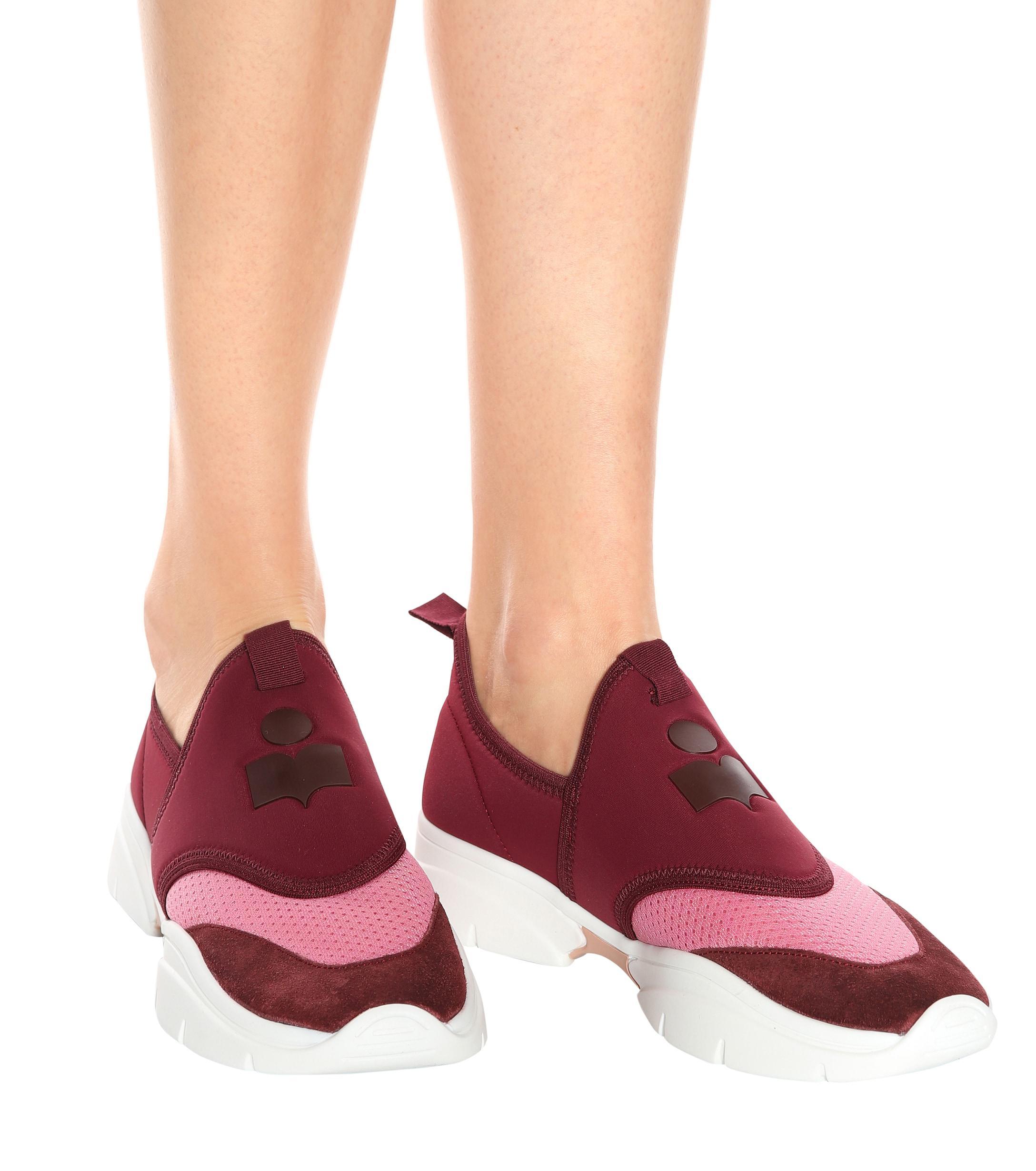 Zapatillas de neoprene Kaisee Isabel Marant de color Morado