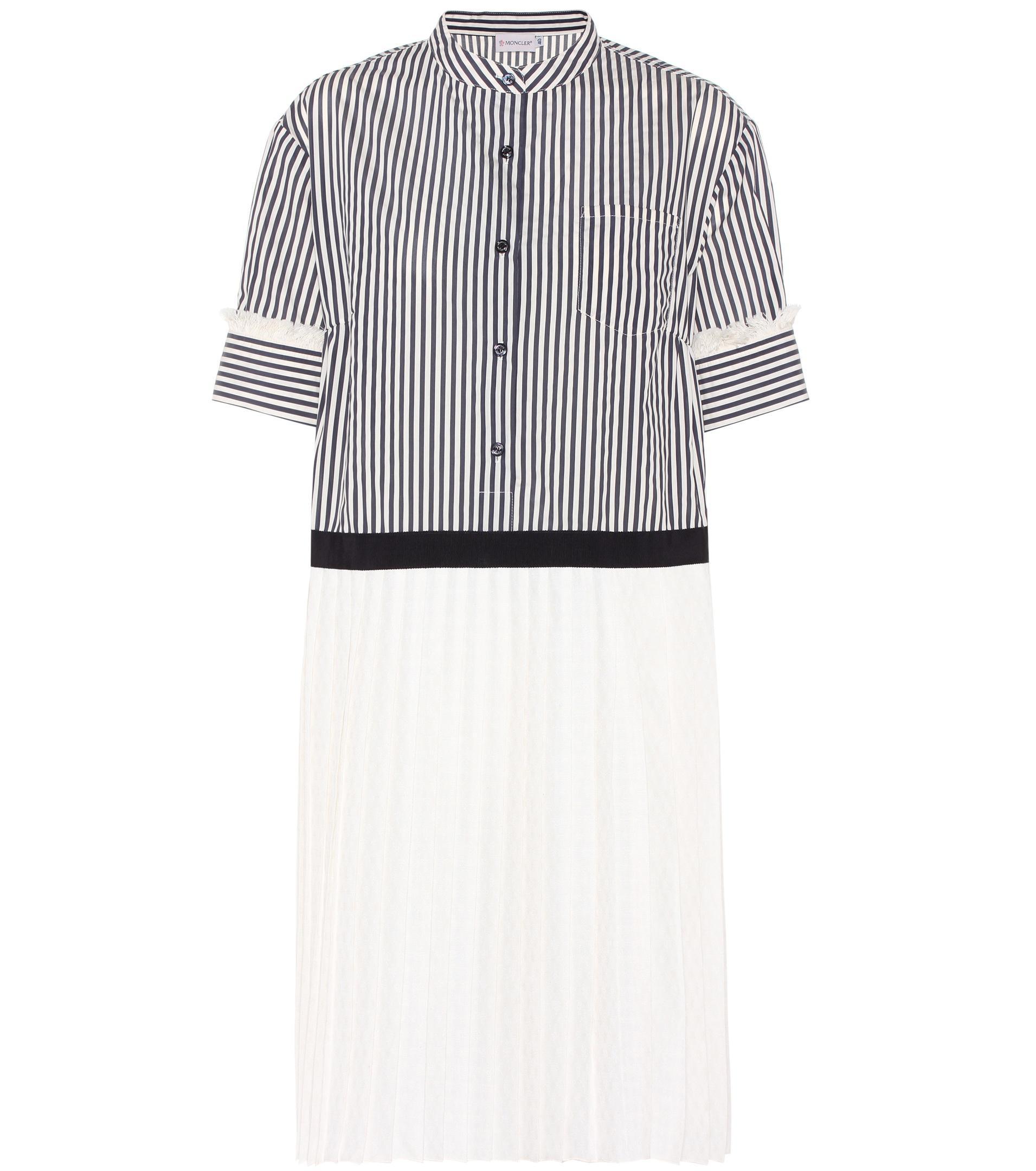 98d48f69567 Lyst - Moncler Striped Jacquard Dress in Blue