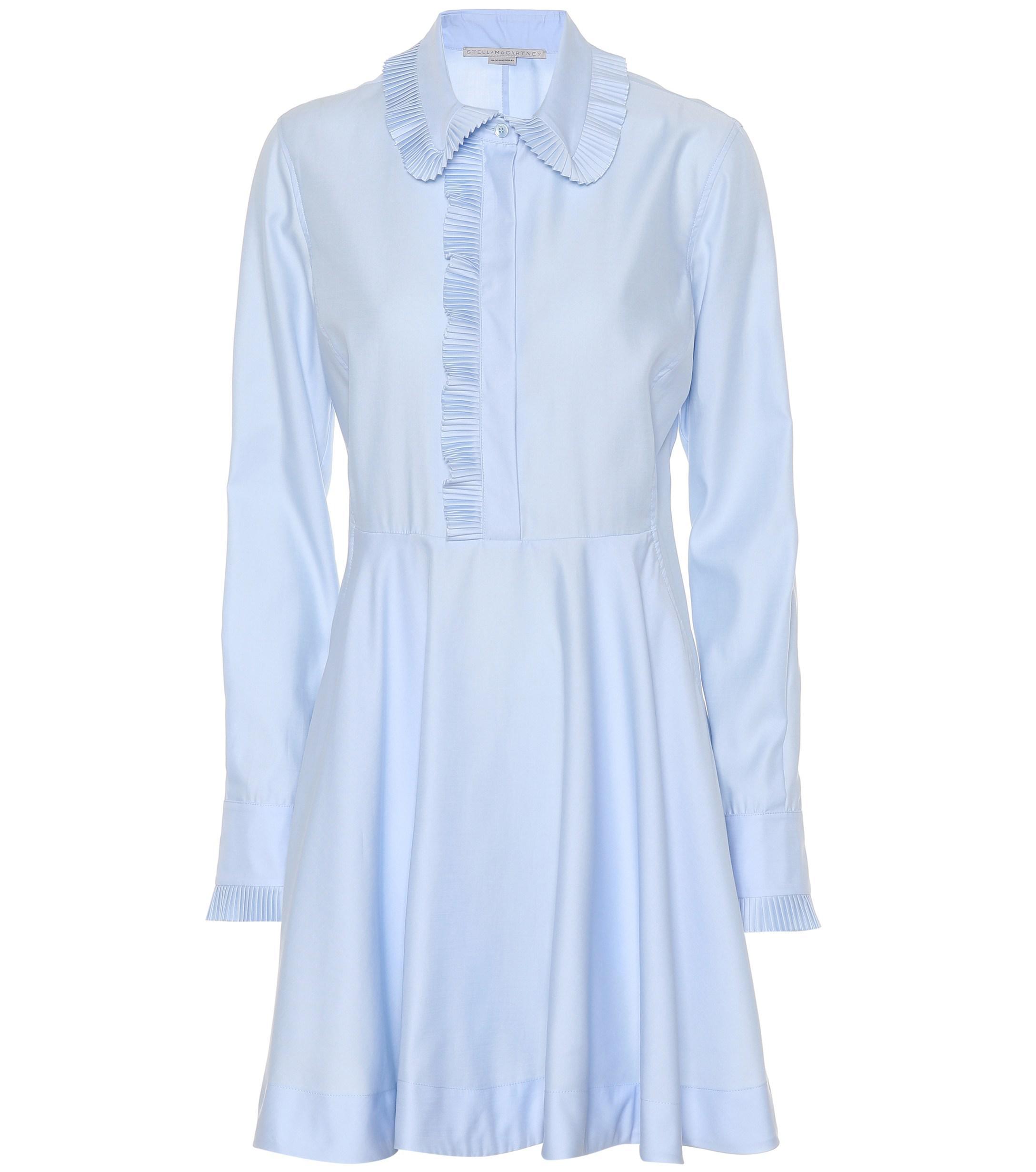 En Réduction Coloris Coton Stella 30De Bleu Robe Mccartney 4Aqc5L3Rj