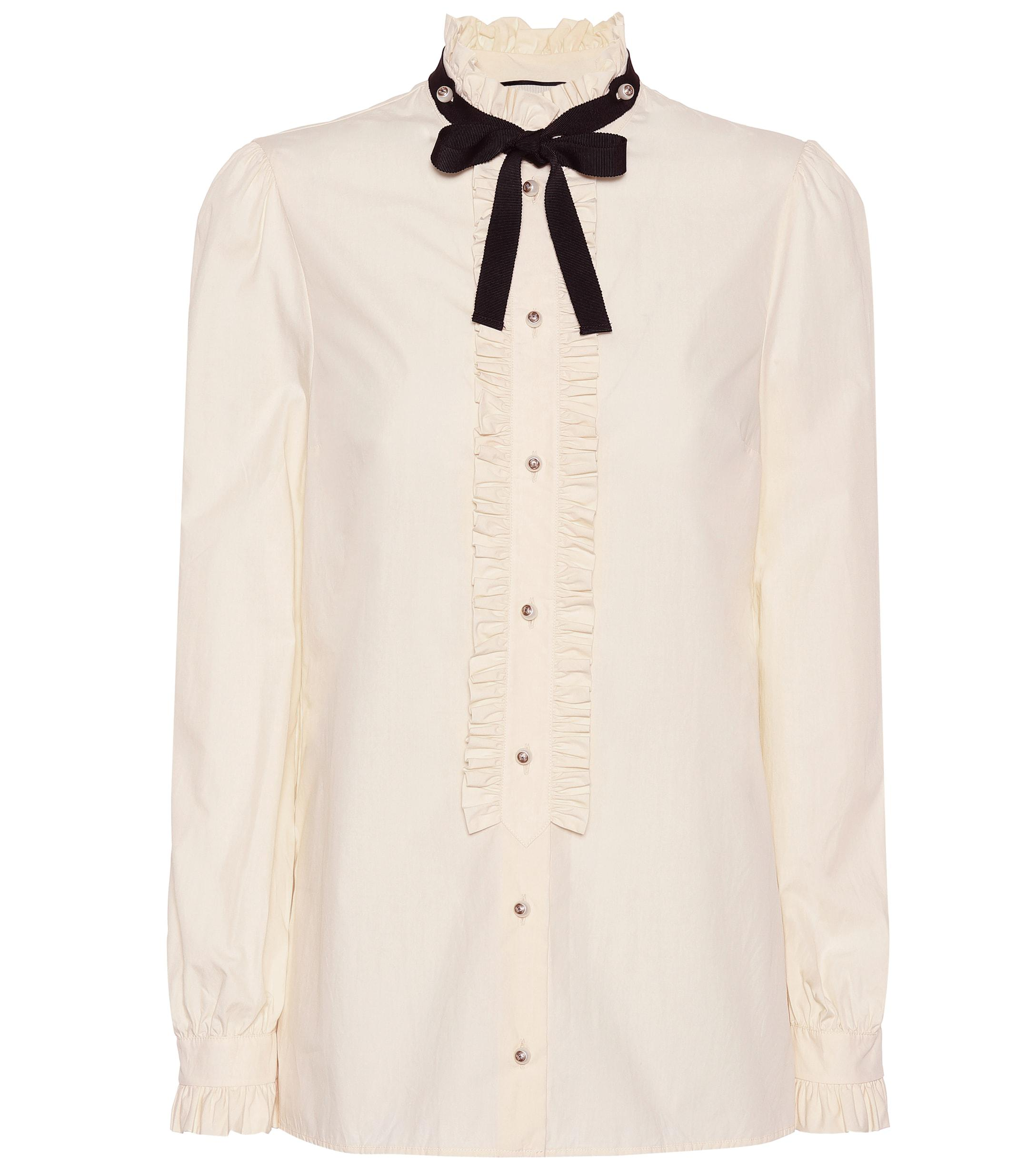104996a3324584 Gucci. Women's Embellished Silk Blouse