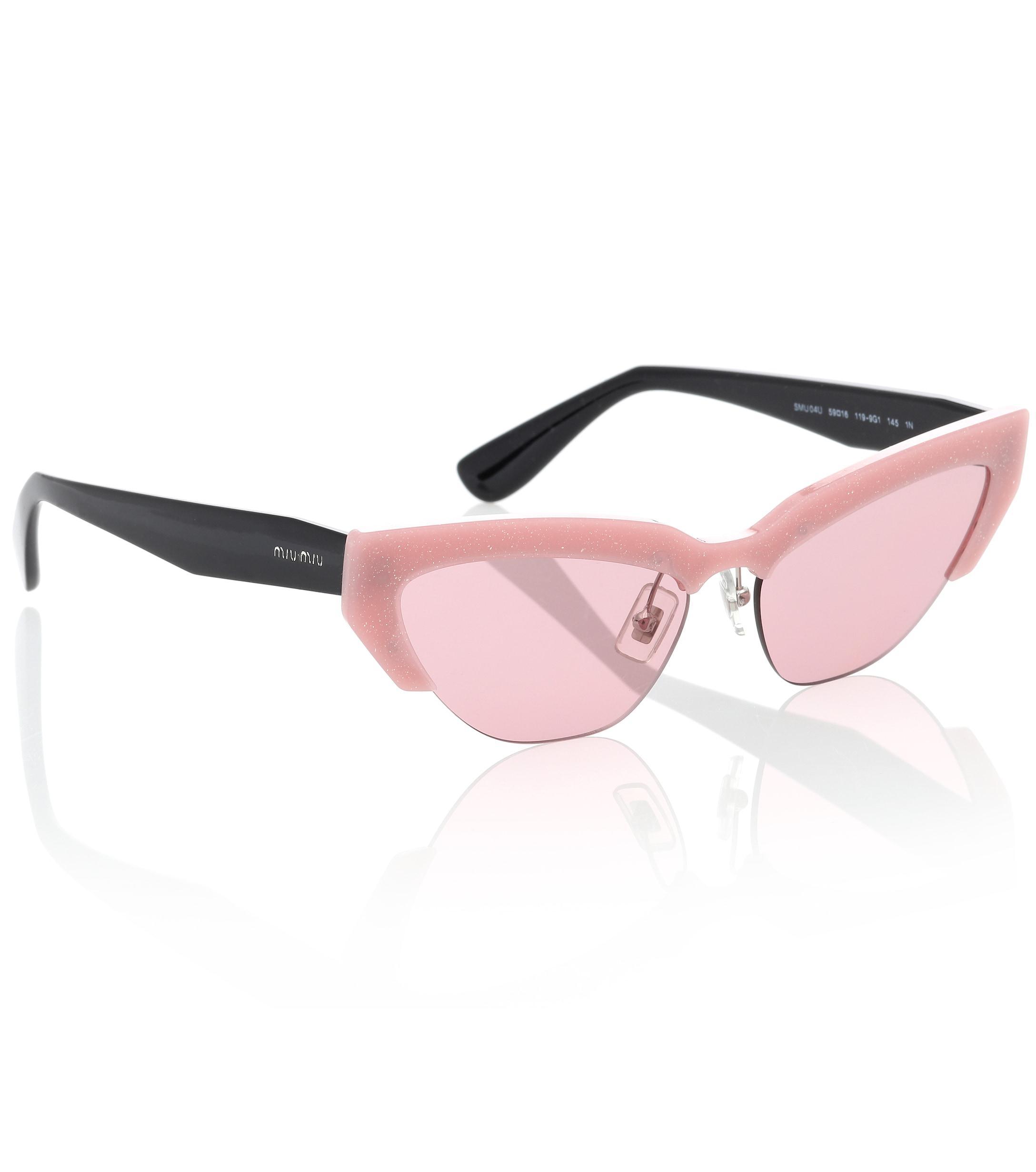 Miu Miu - Pink Gafas de sol cat-eye - Lyst. Ver en pantalla completa f0751f428f