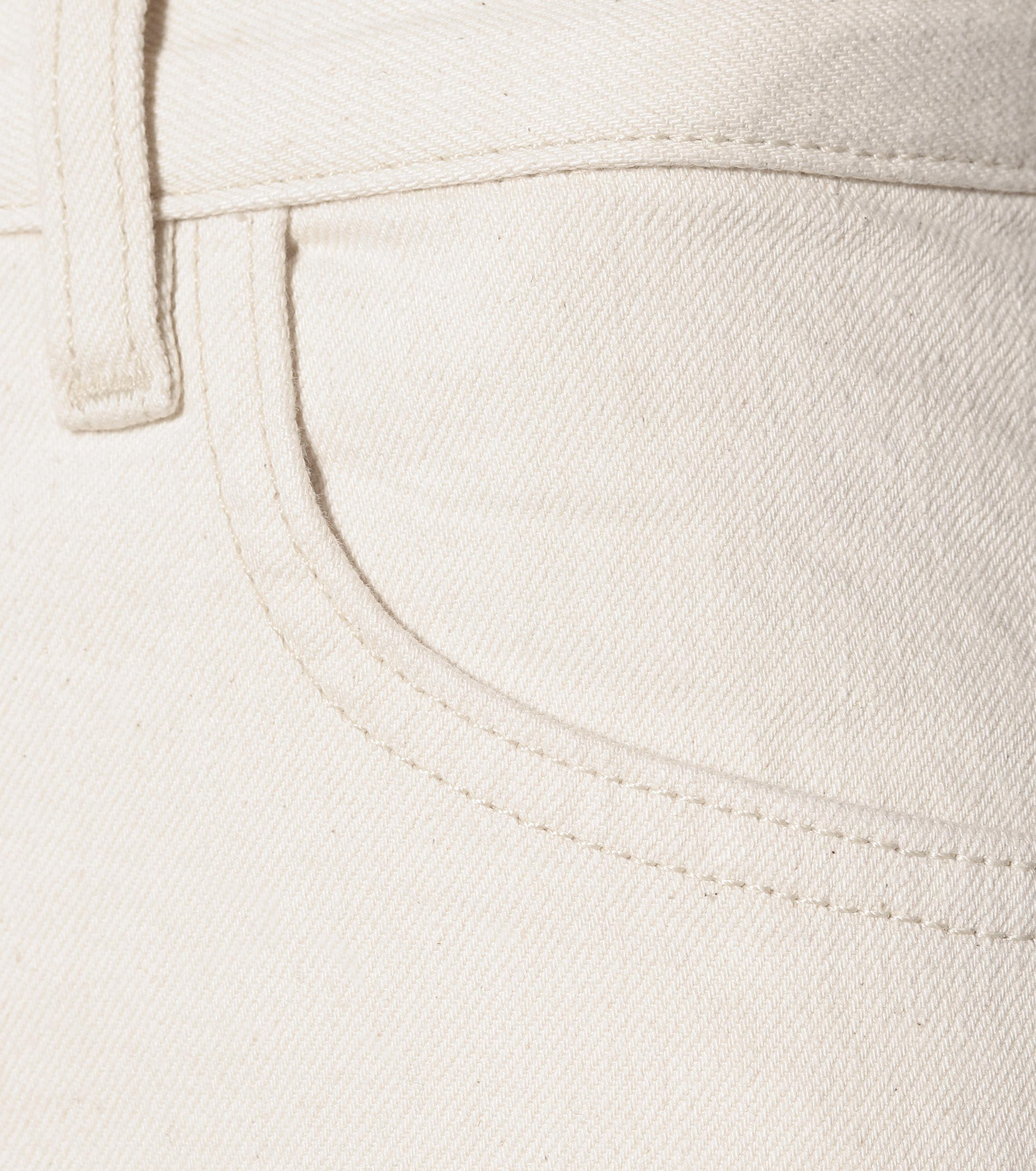 The Row Denim Ashland Cropped Straight-leg Jeans in White