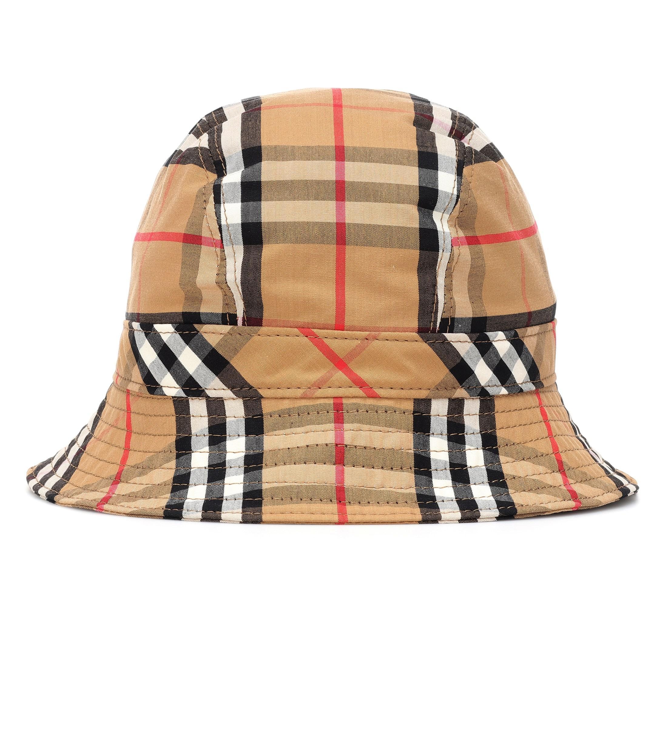 f9f96563603 Burberry. Women s Vintage Check Cotton Bucket Hat