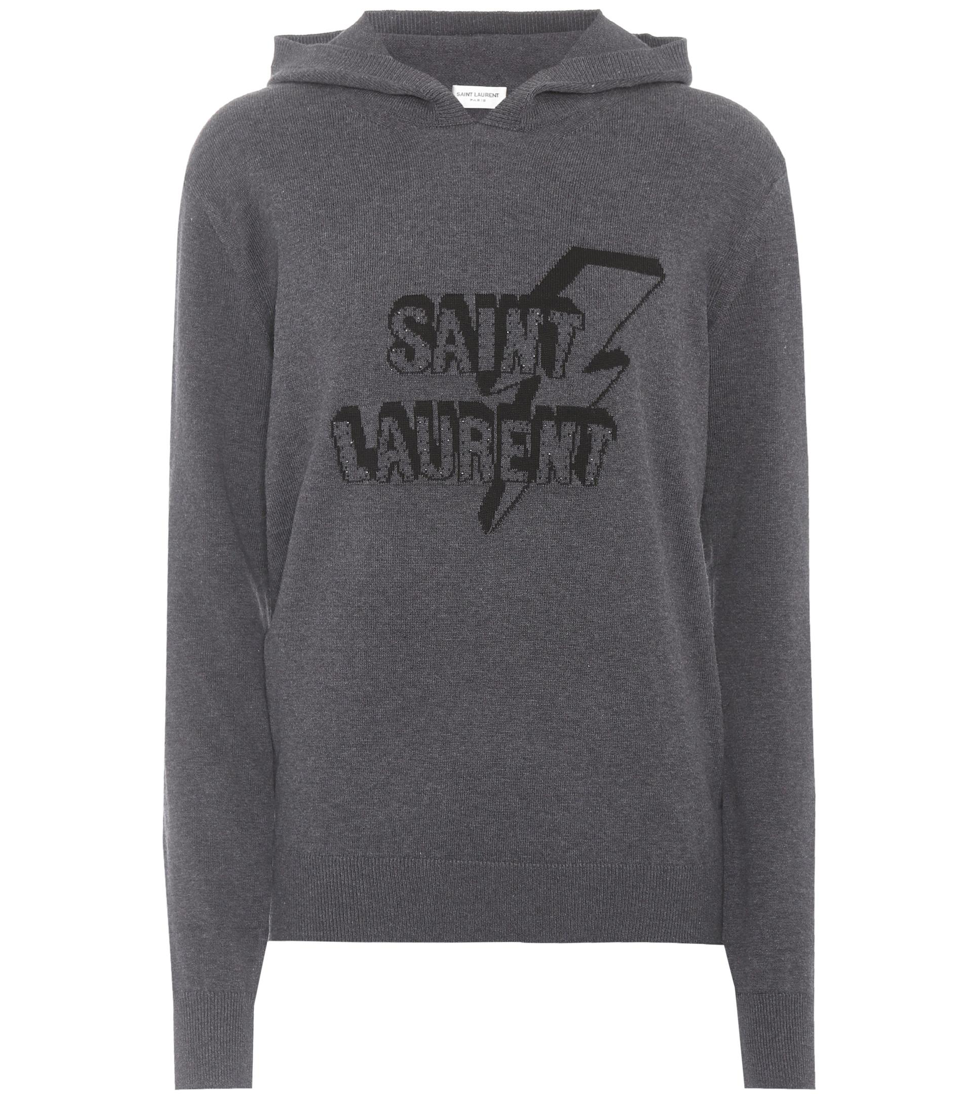 Buy Cheap Low Price Fee Shipping Inexpensive Cheap Price Cotton knitted sweatshirt Saint Laurent Best For Sale 2018 New Cheap Price Cheap And Nice 6m8kFqArW