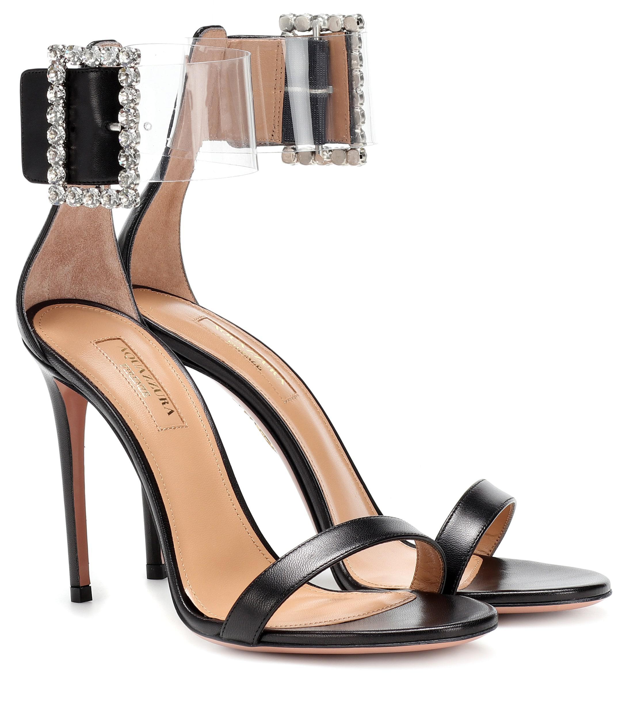 28fe8bfb1776 Lyst - Aquazzura Casablanca 105 Embellished Sandals in Black