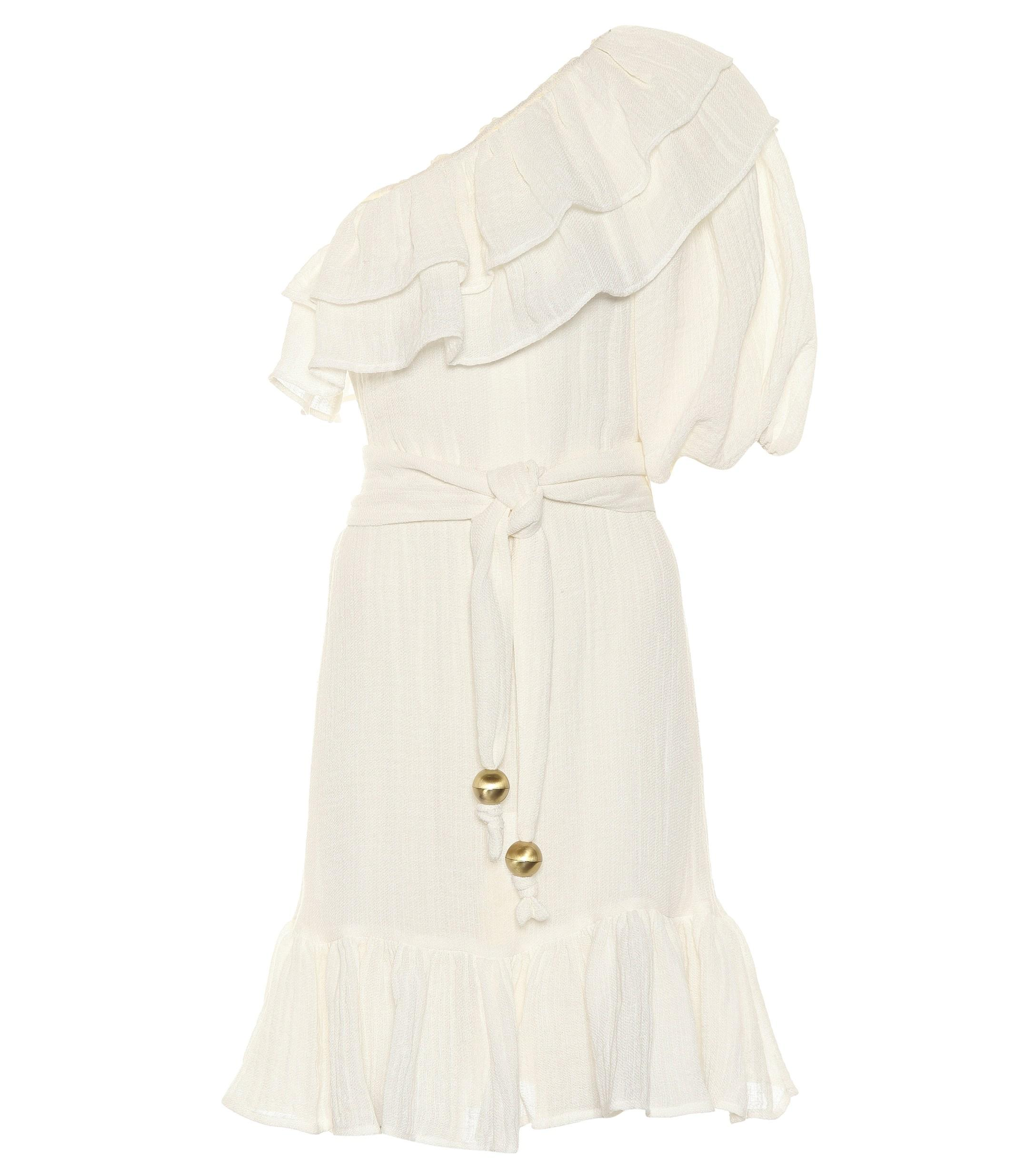 caa5c659b7 Lisa Marie Fernandez Arden Linen-blend Gauze Minidress in White - Lyst