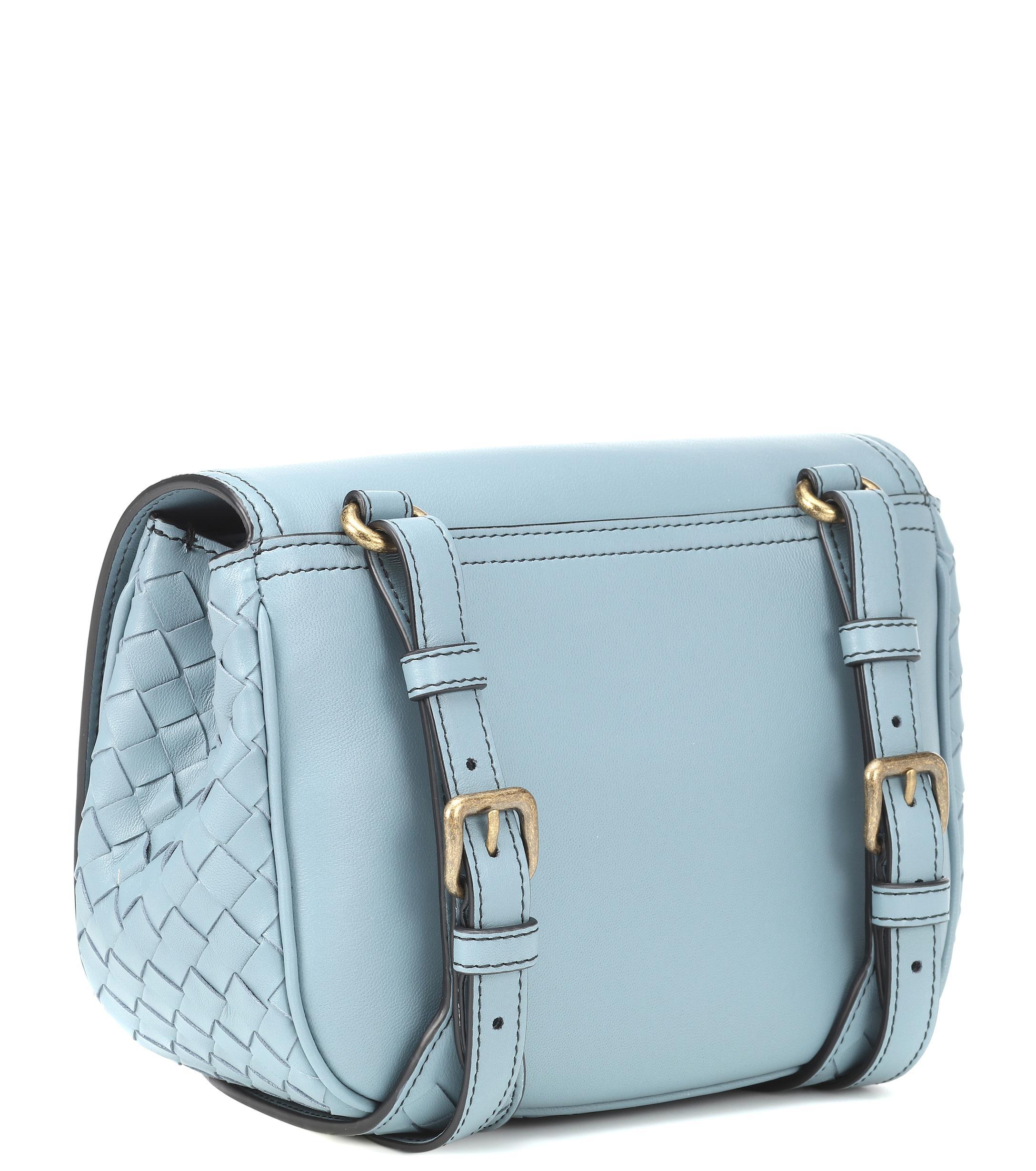 ce8e1272e84 Bottega Veneta - Blue Bv Luna Leather Crossbody Bag - Lyst. View fullscreen