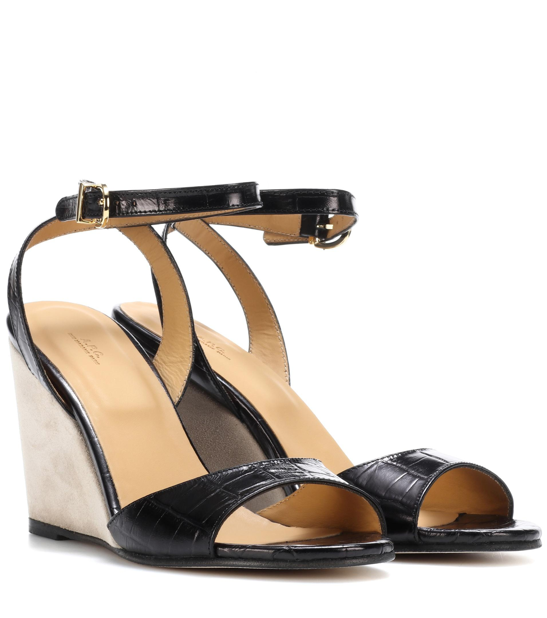 A.P.C. Printed Peep-Toe Wedges discount with paypal outlet best store to get shopping online free shipping with mastercard gRrY1j53