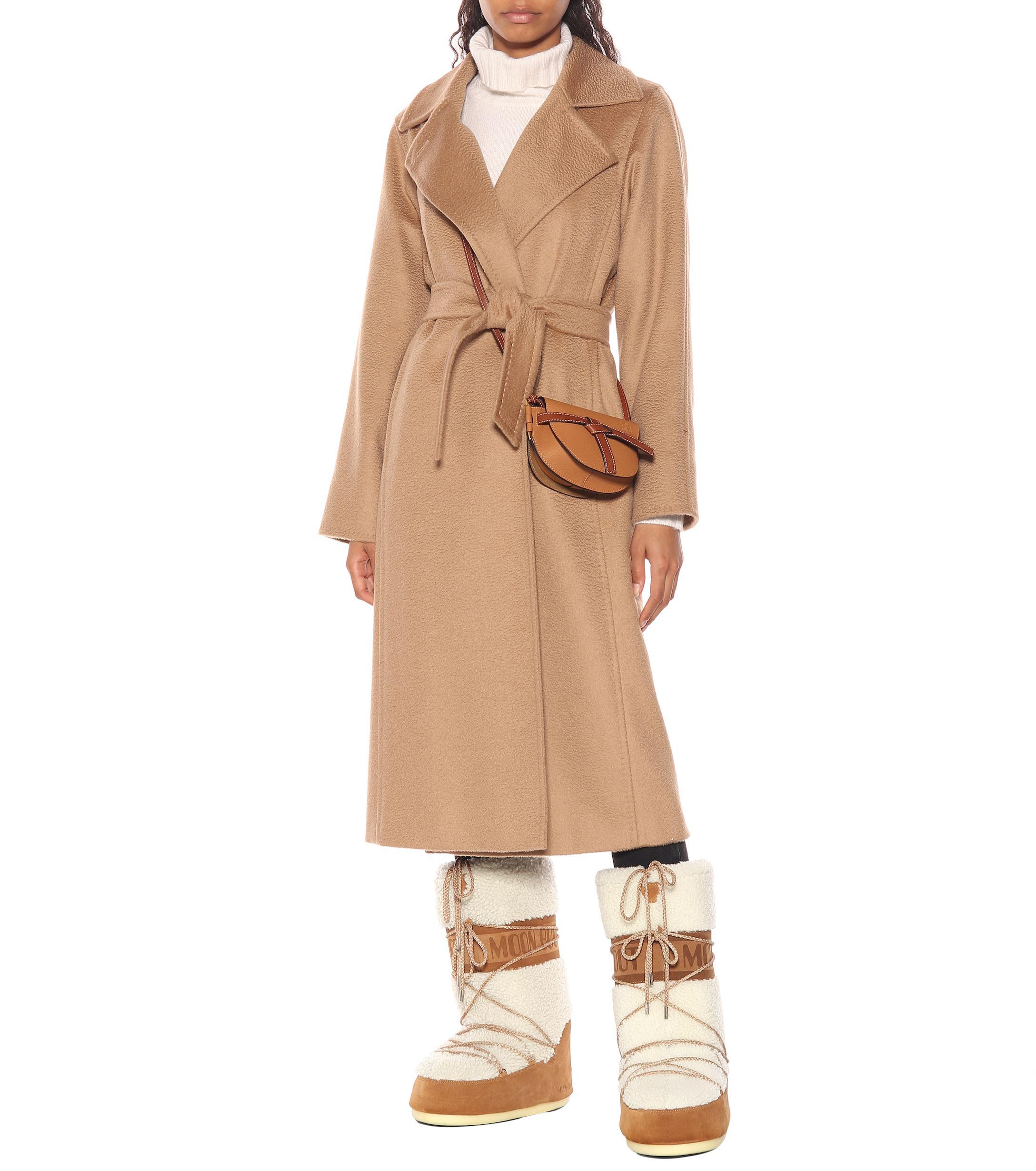 Botas de lana y gamuza Moon Boot de Lana de color Blanco