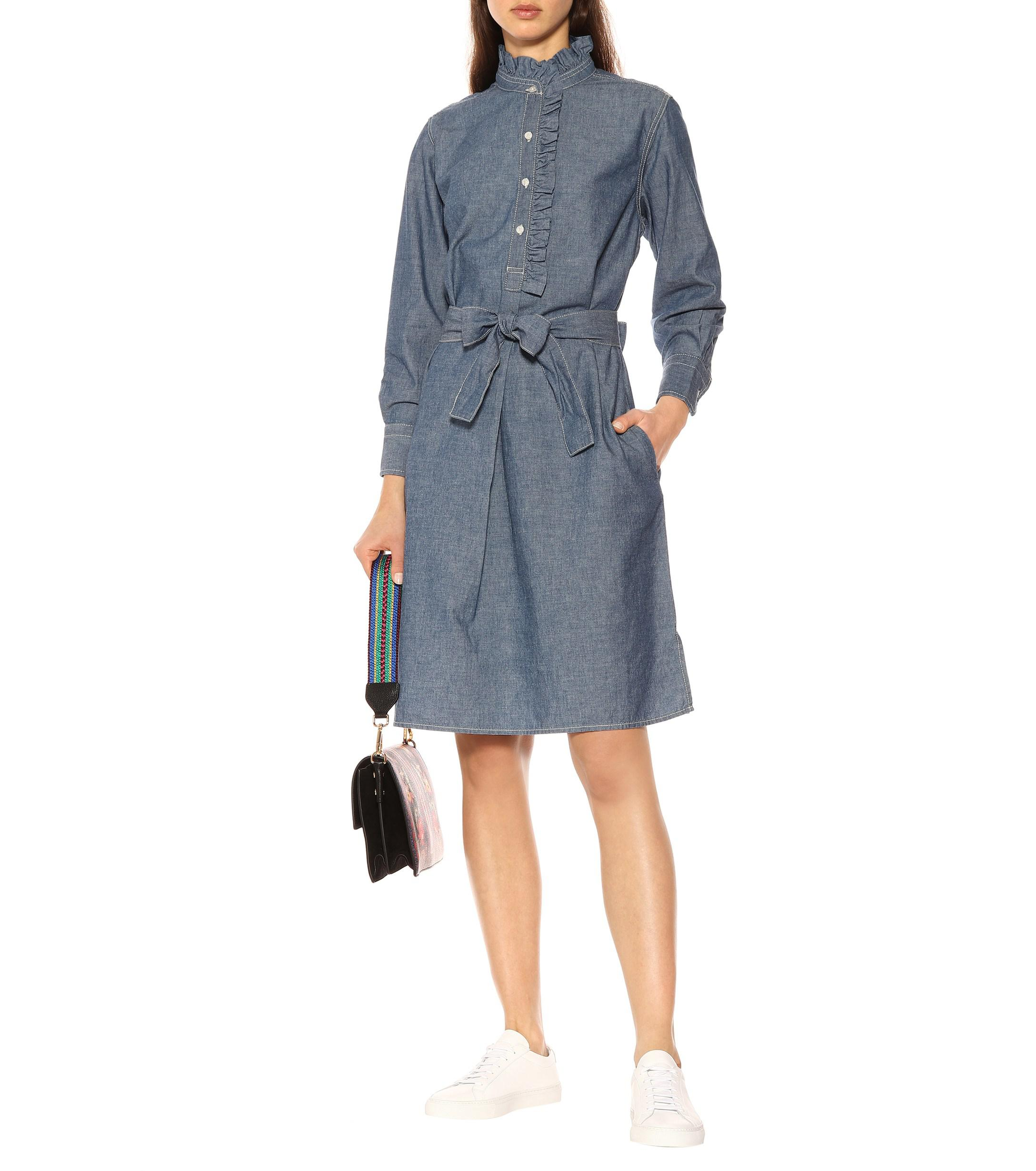 48d0e76d9d Tory Burch - Blue Deneuve Chambray Shirt Dress - Lyst. View fullscreen