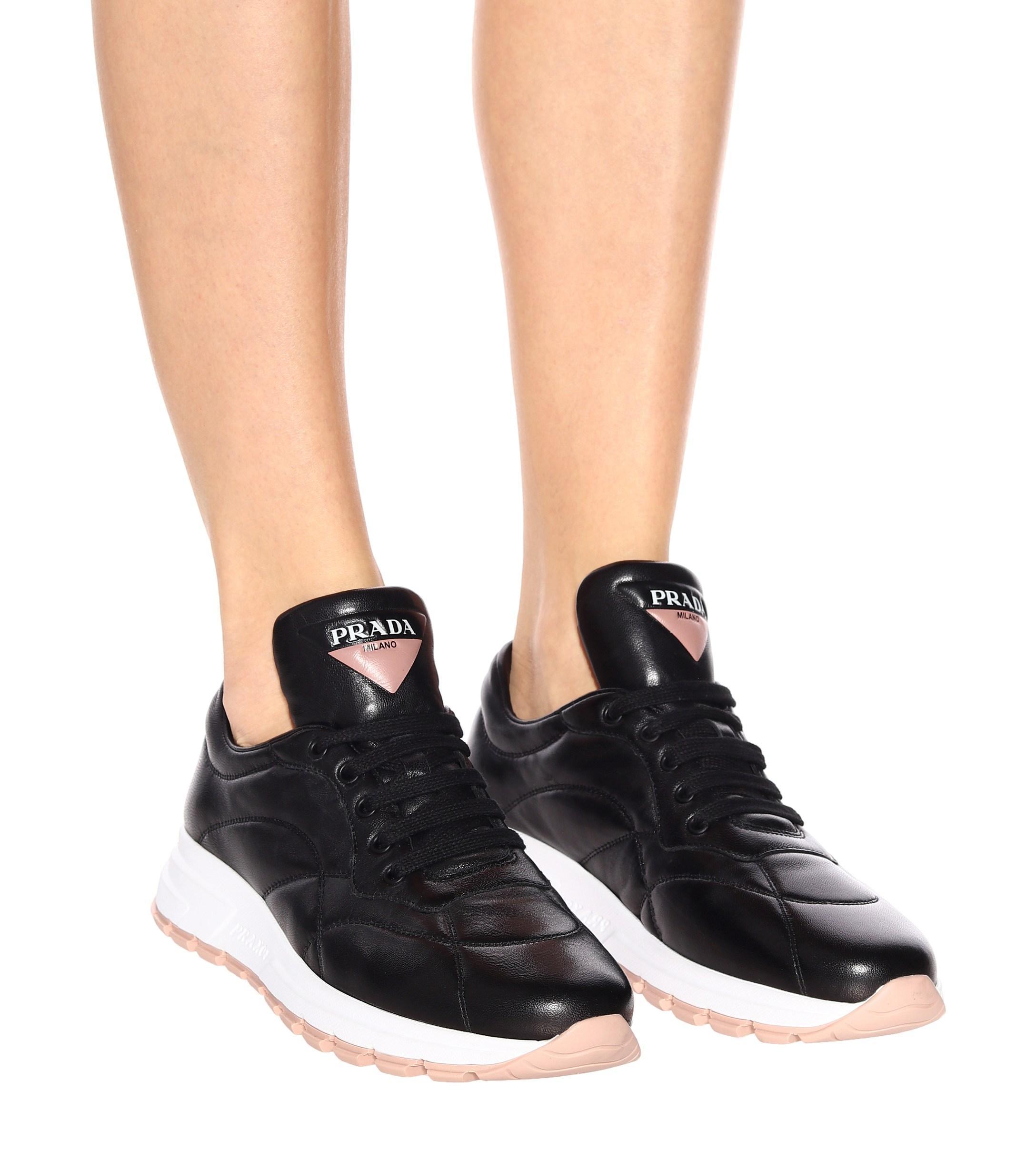 Prada Prax-01 Sneakers Leather Black