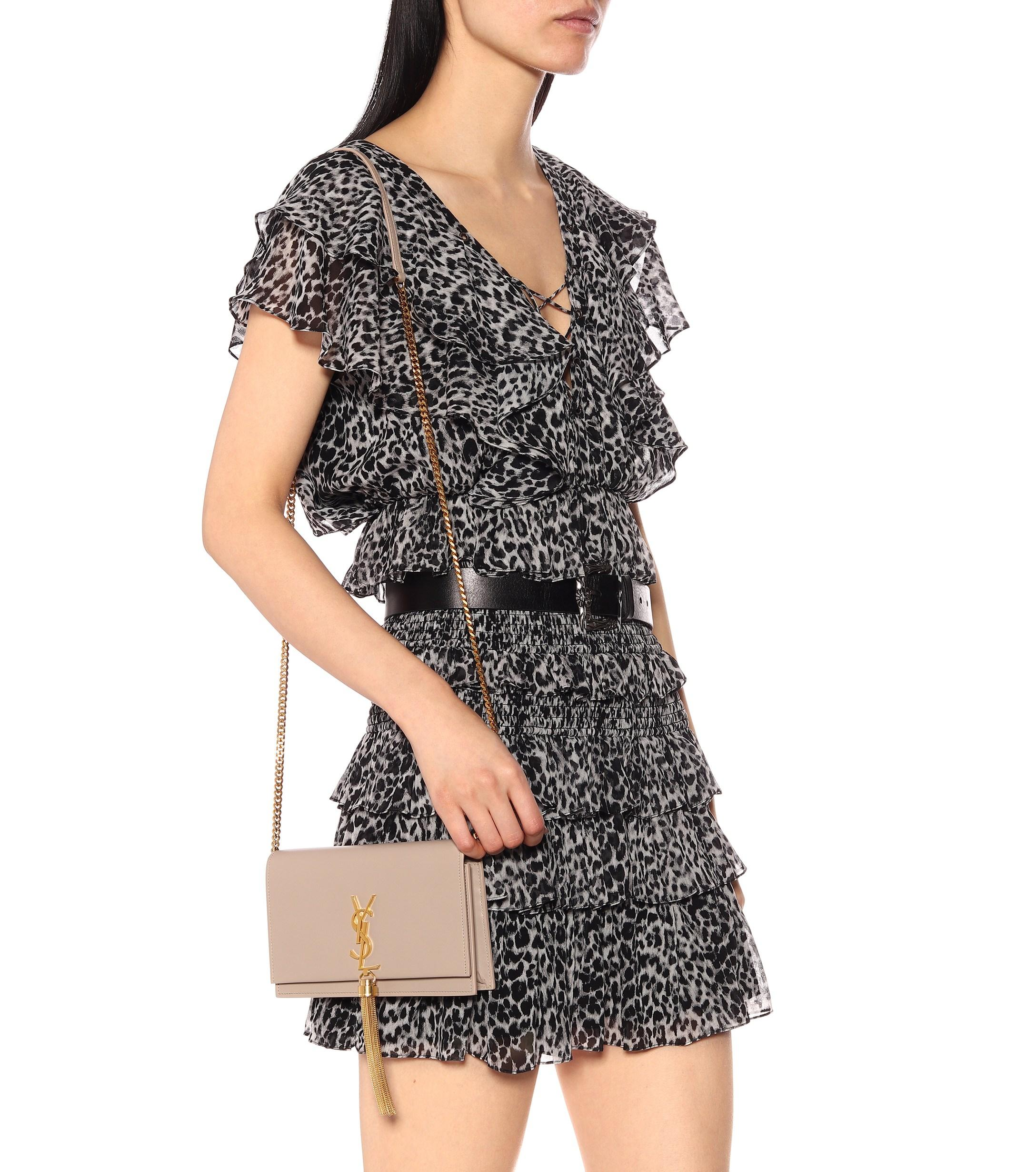 34a06dbaa9 Saint Laurent - Natural Kate Tassel Leather Shoulder Bag - Lyst. View  fullscreen