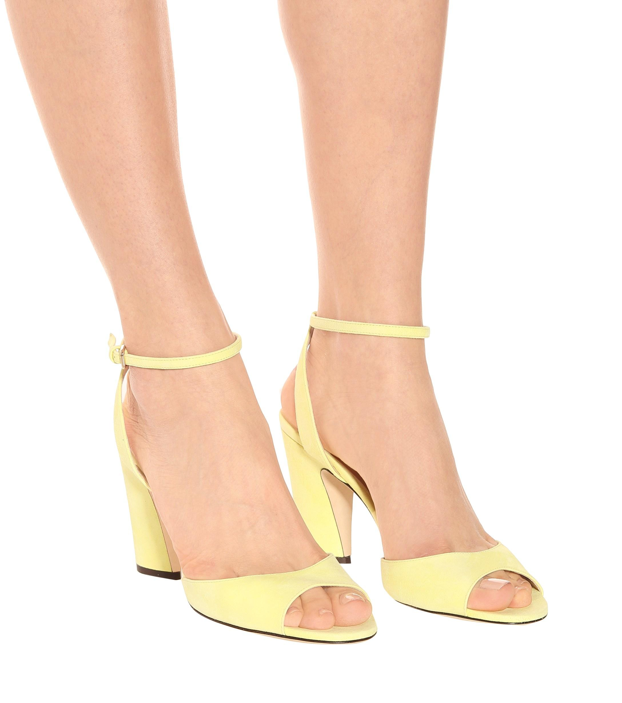 Jimmy Choo Miranda 85 Suede Sandals