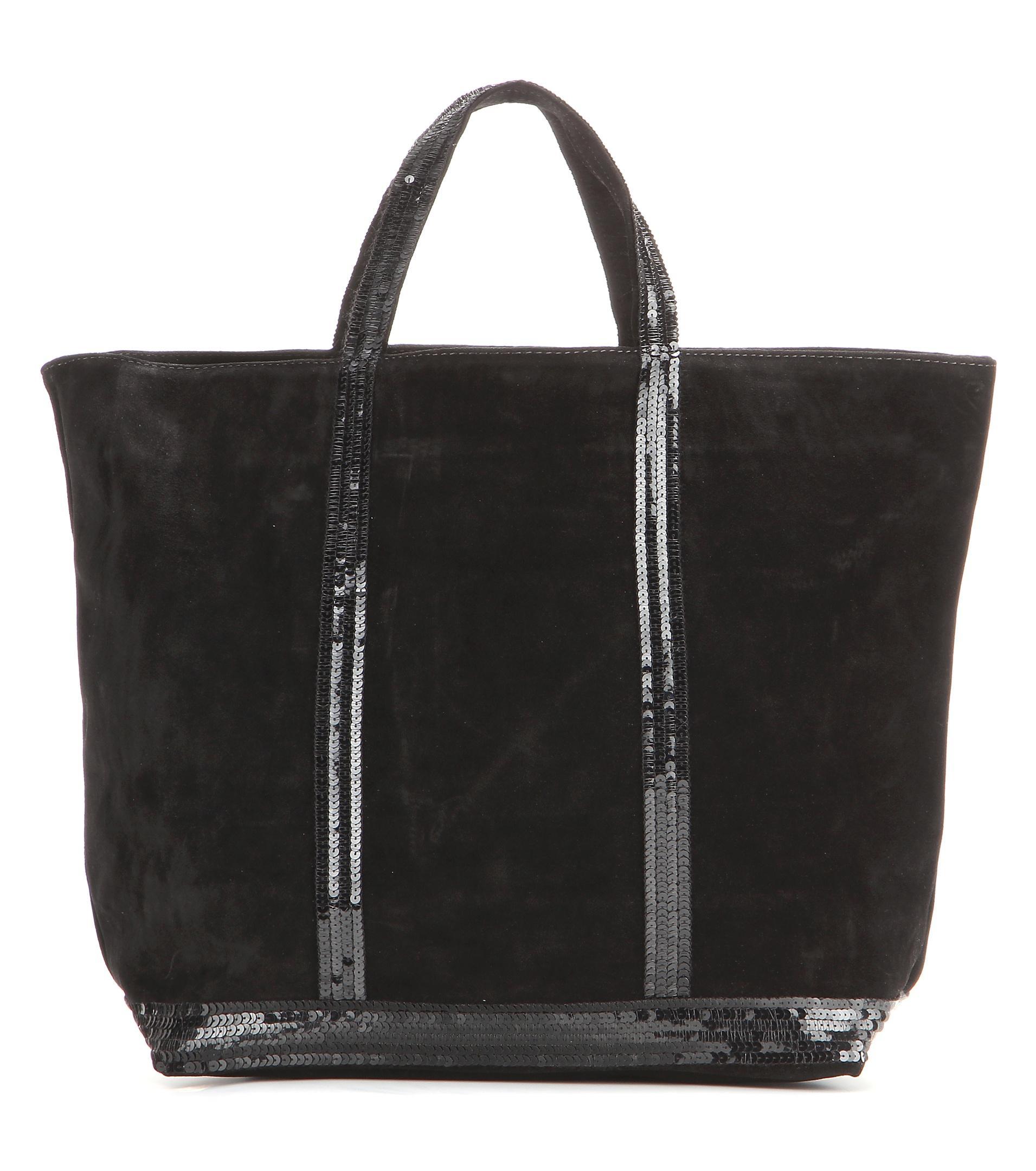 vanessa bruno cabas medium suede shopper in black lyst. Black Bedroom Furniture Sets. Home Design Ideas