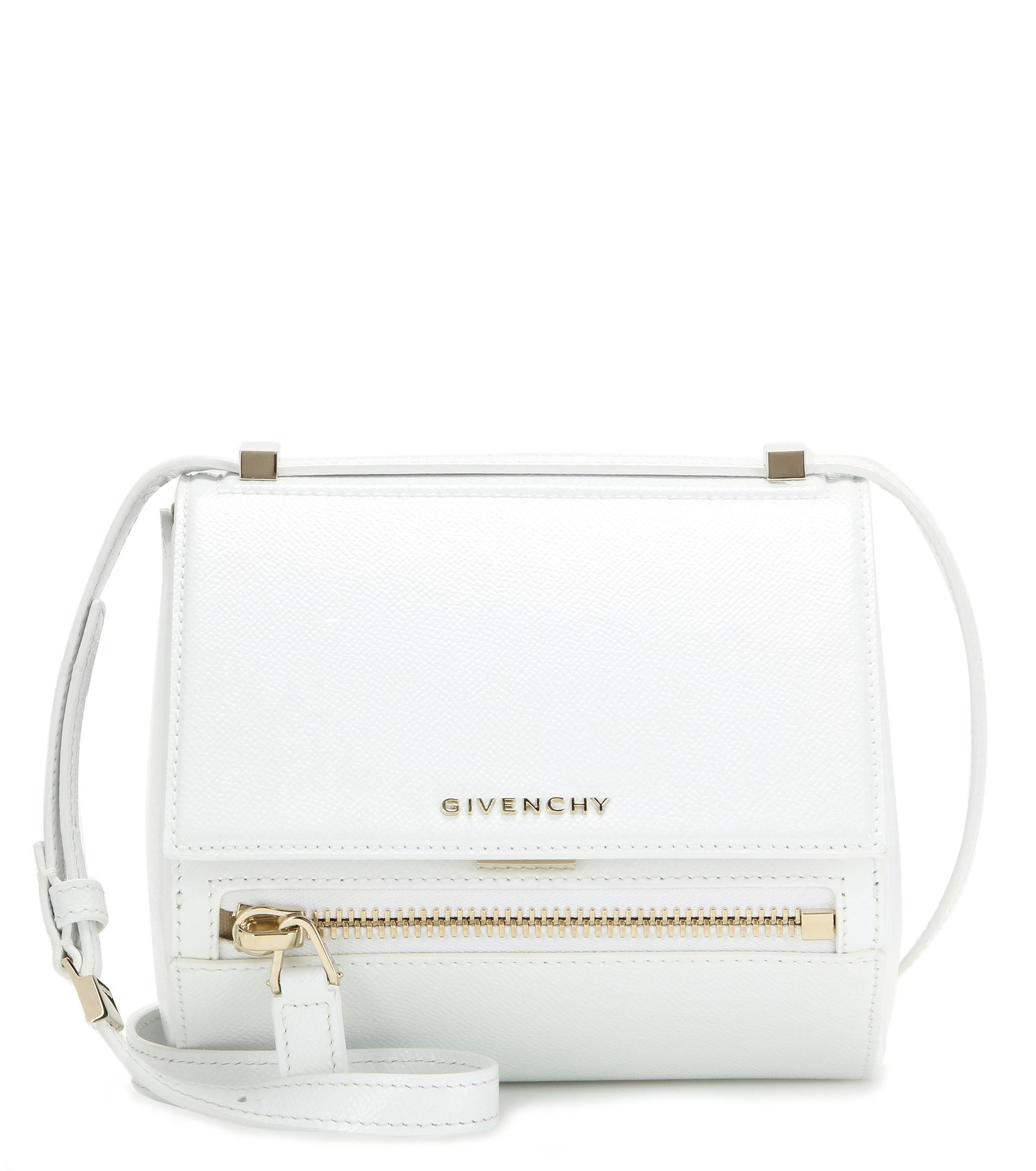 c2c43a0dc3 Lyst - Givenchy Pandora Box Mini Leather Shoulder Bag in White