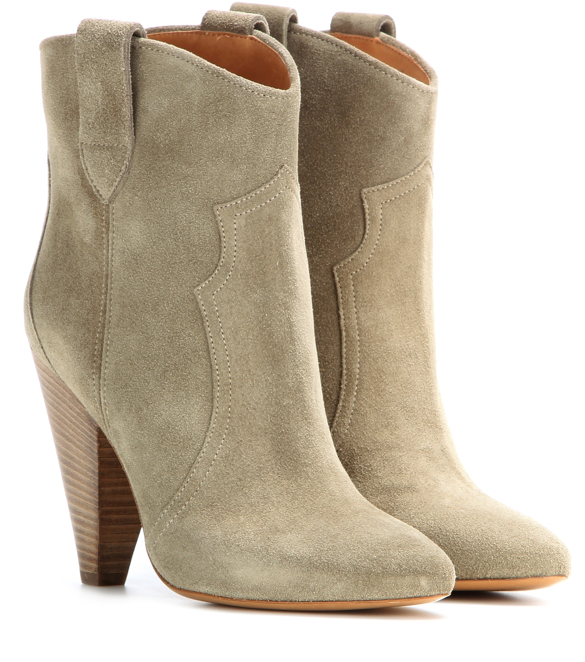 isabel marant toile roxann suede boots in natural lyst. Black Bedroom Furniture Sets. Home Design Ideas
