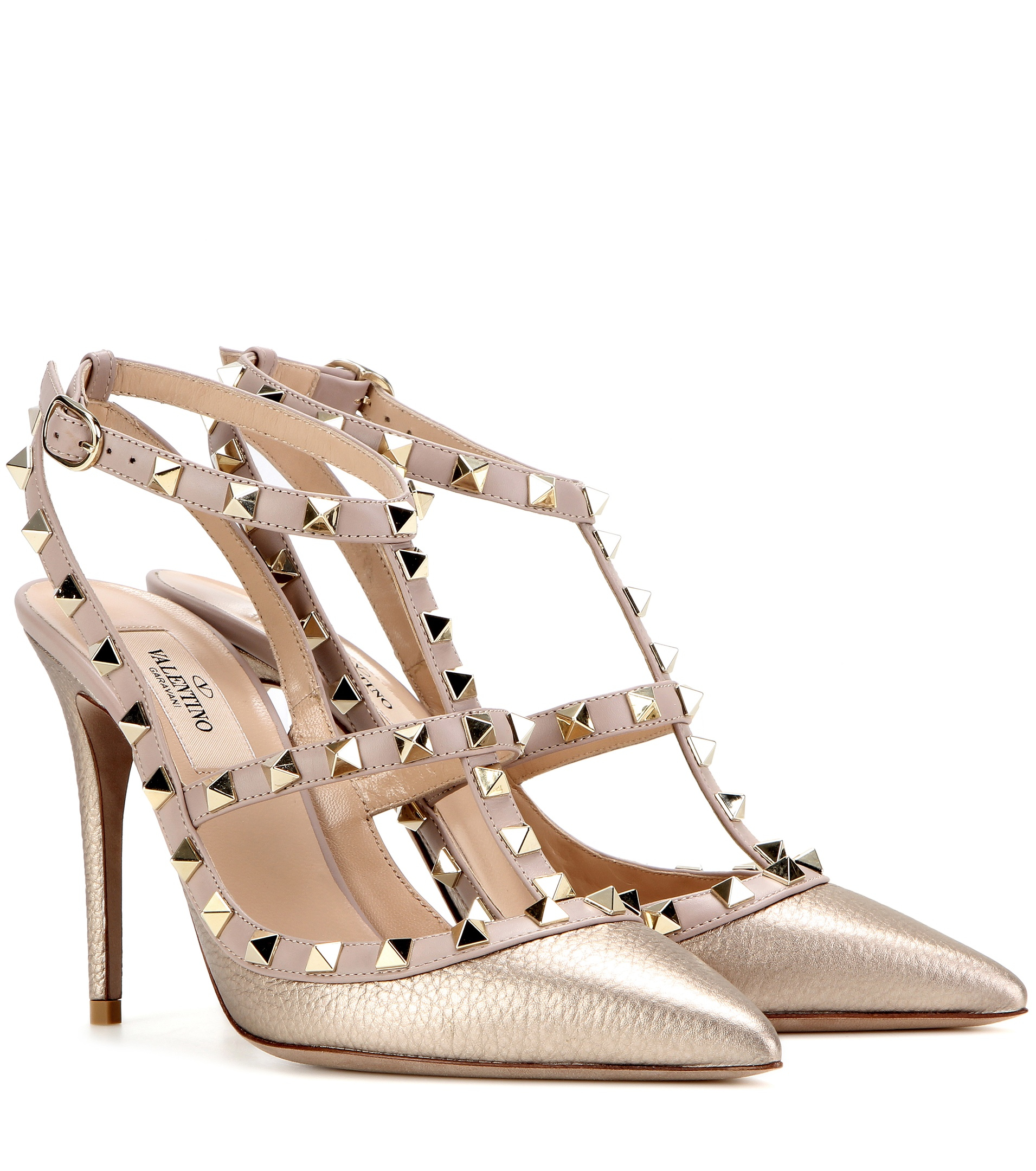 Valentino Garavani Rockstud Metallic Leather Pumps in ...