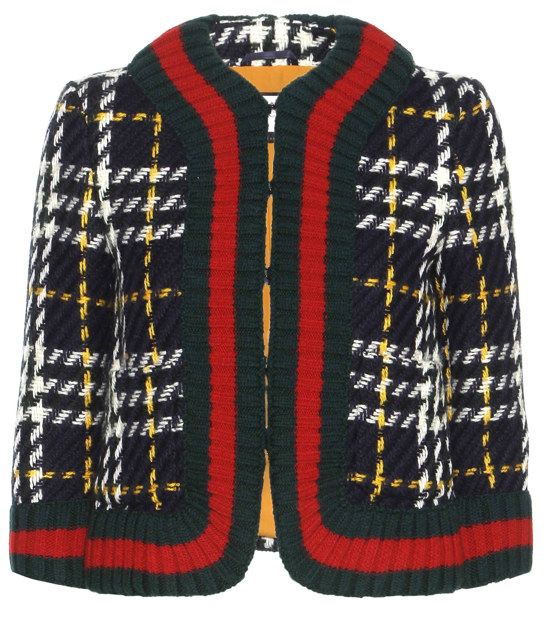 gucci wool tweed blazer in blue lyst. Black Bedroom Furniture Sets. Home Design Ideas