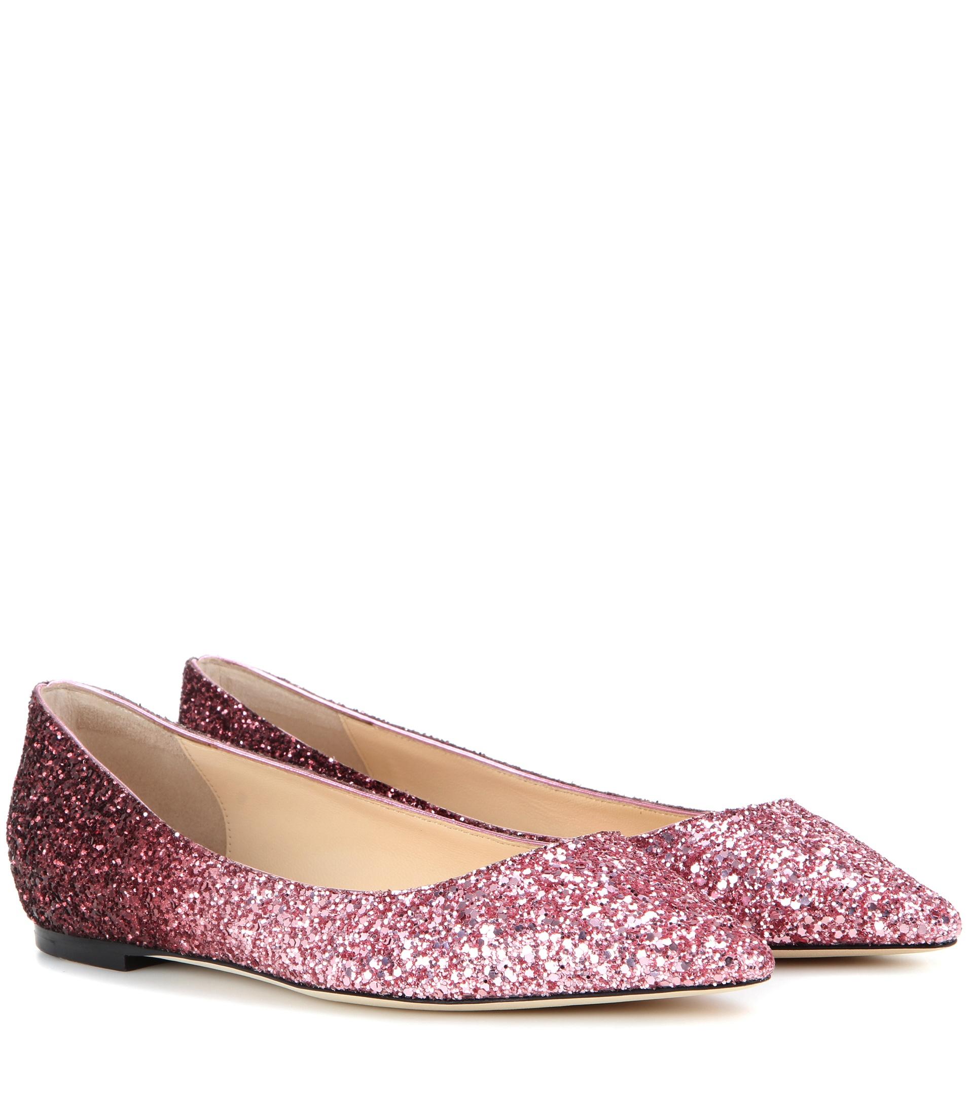Romy ballerinas - Pink & Purple Jimmy Choo London OvMac5