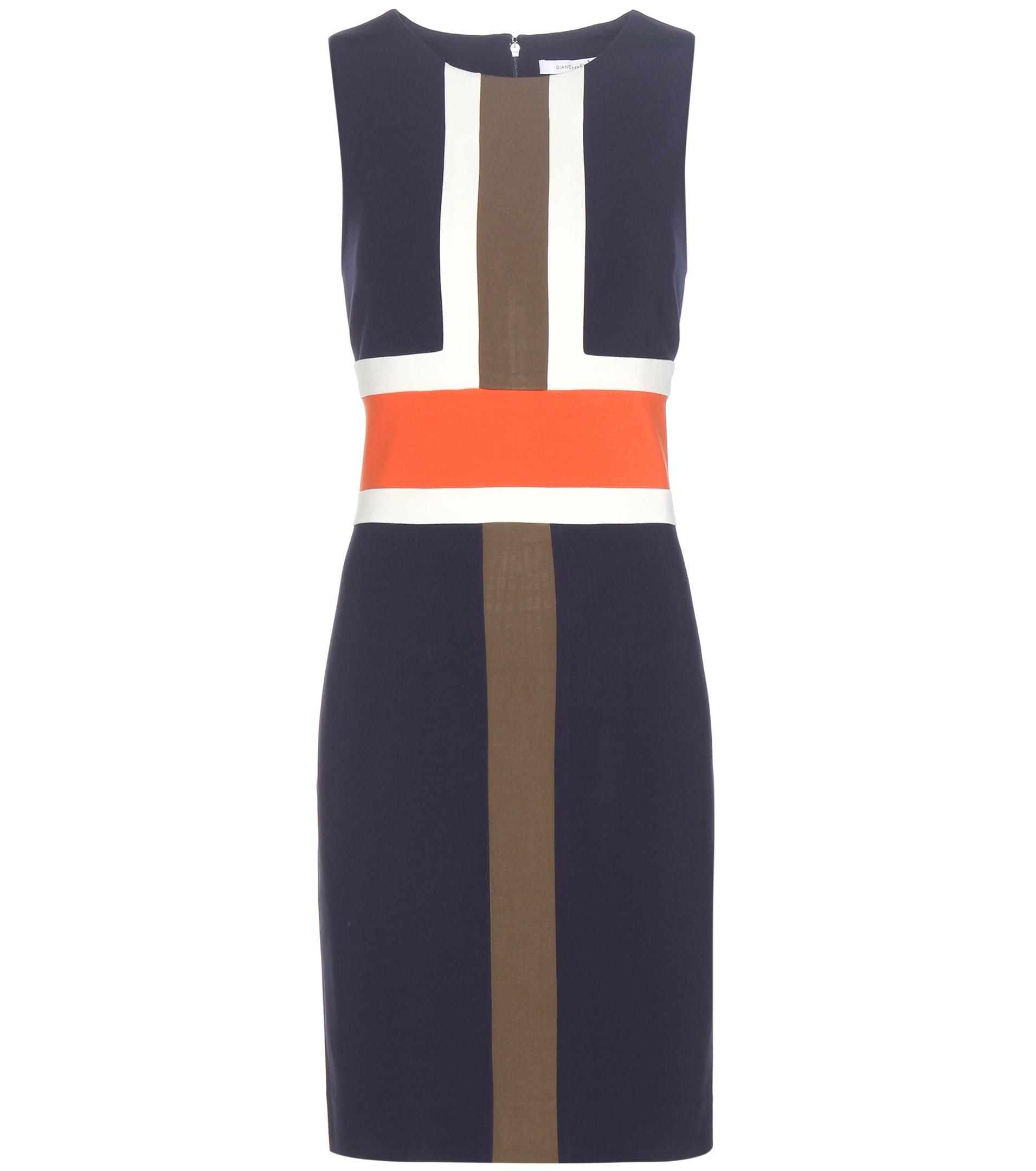 diane von furstenberg hazeline jersey dress in blue lyst. Black Bedroom Furniture Sets. Home Design Ideas