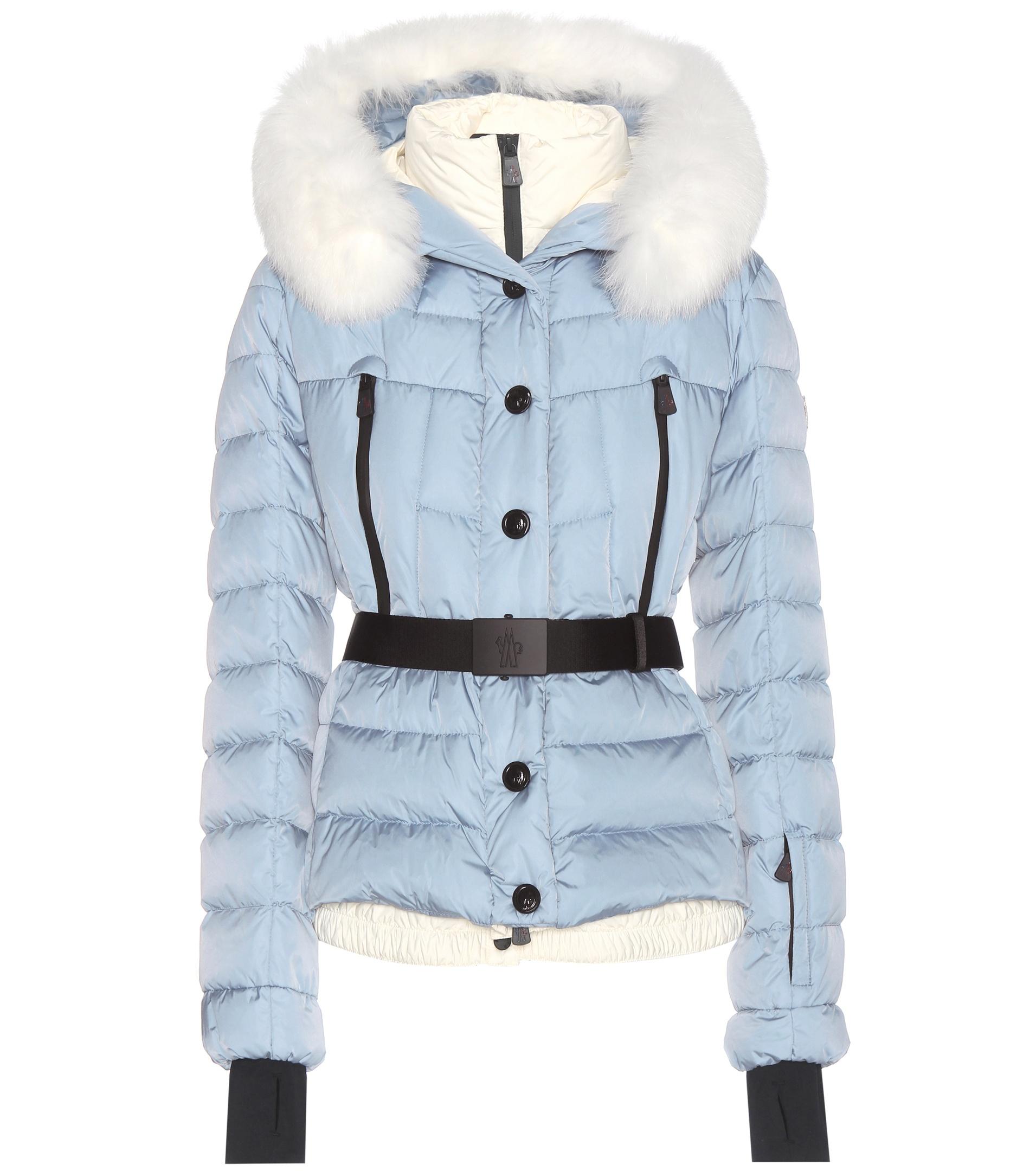 fb2b80ffe Moncler Grenoble Blue Beverley Fur-trimmed Down Jacket