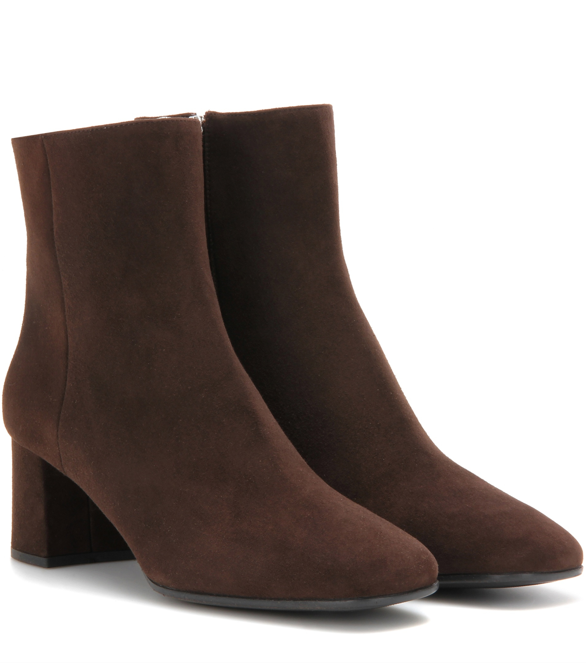 prada suede ankle boots in brown lyst