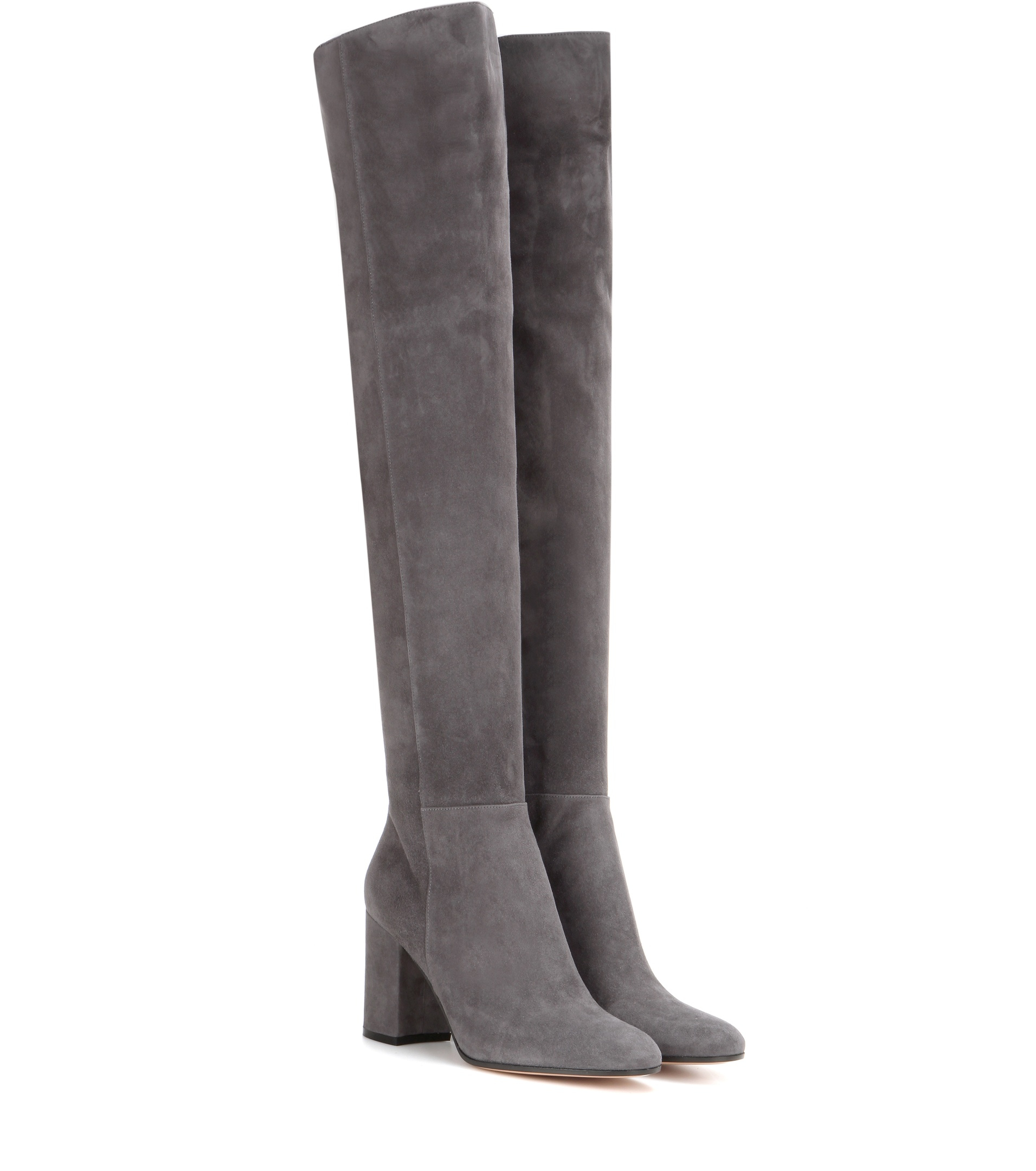 gianvito rolling 85 the knee suede boots in