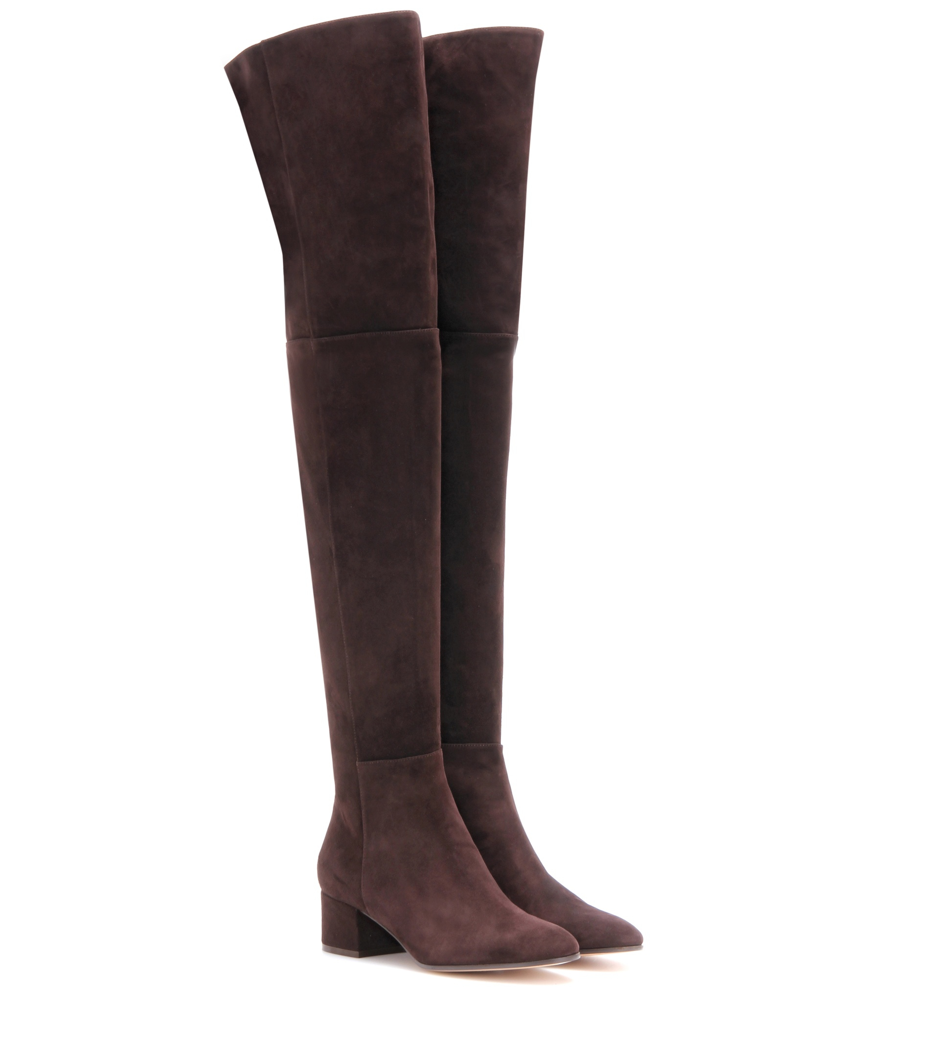 gianvito rolling mid the knee suede boots in