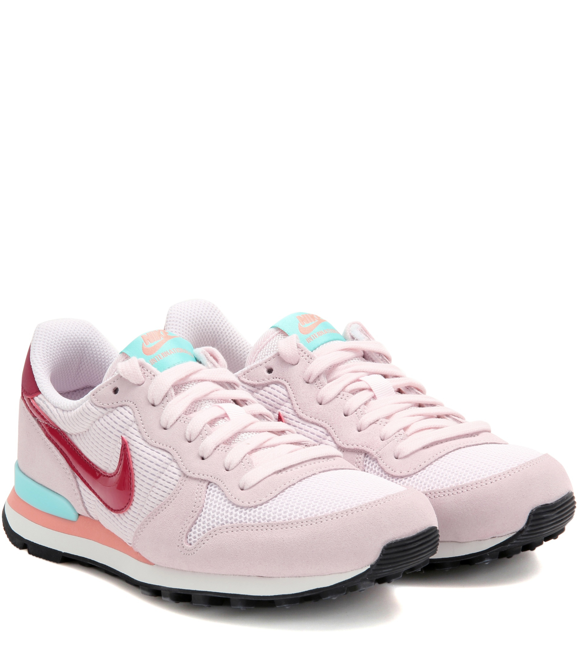 nike internationalist suede and fabric sneakers in pink lyst. Black Bedroom Furniture Sets. Home Design Ideas