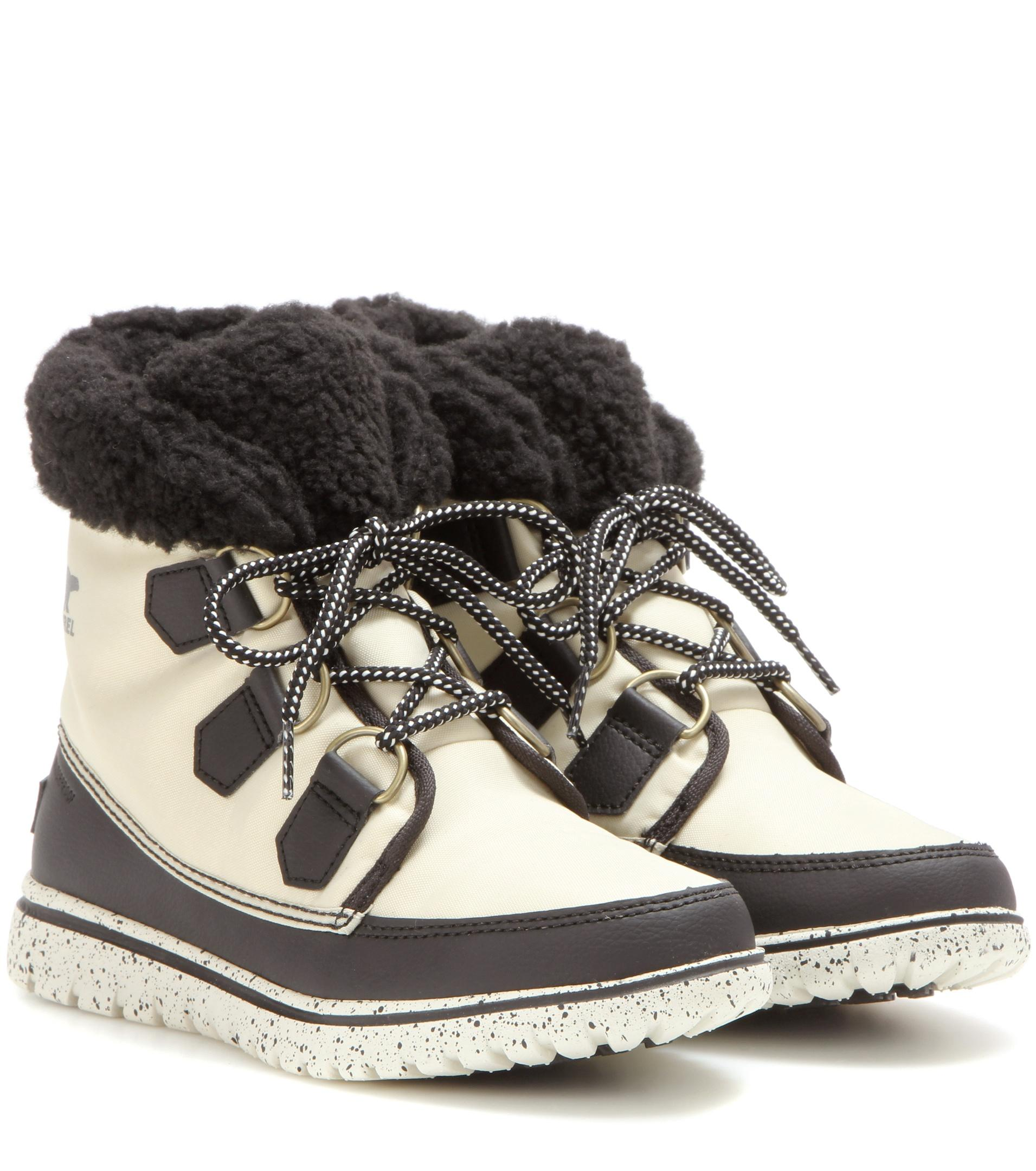 a52023b84ad Sorel White Cozy™ Carnival Fleece-Lined Ankle Boots