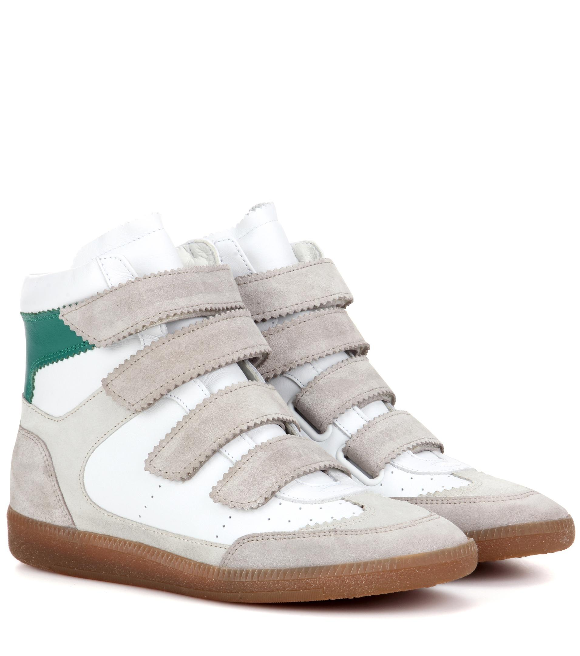 isabel marant toile bilsy leather high top sneakers in white lyst. Black Bedroom Furniture Sets. Home Design Ideas
