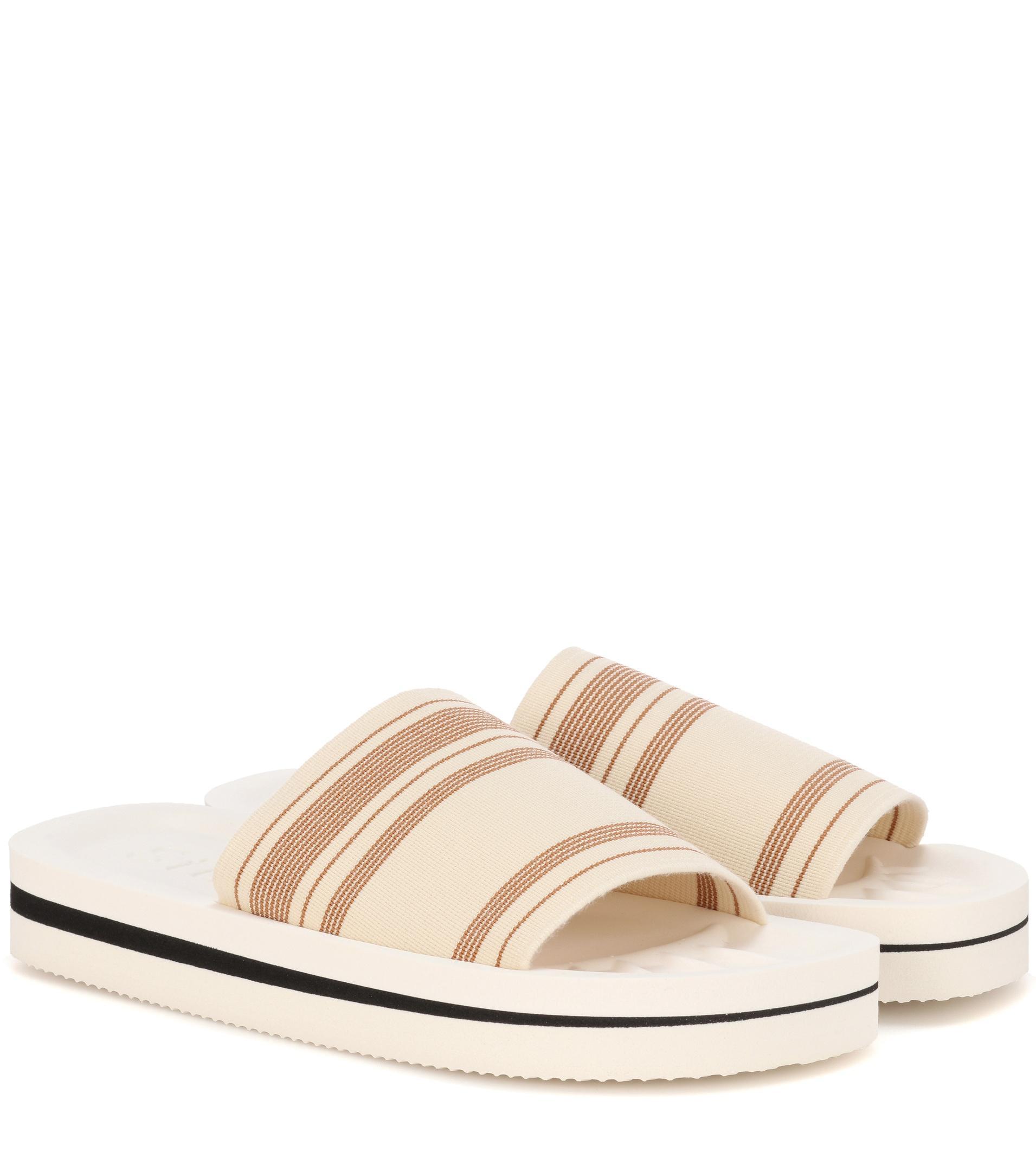 Acne Tania printed slip-on sandals x9qogCW0
