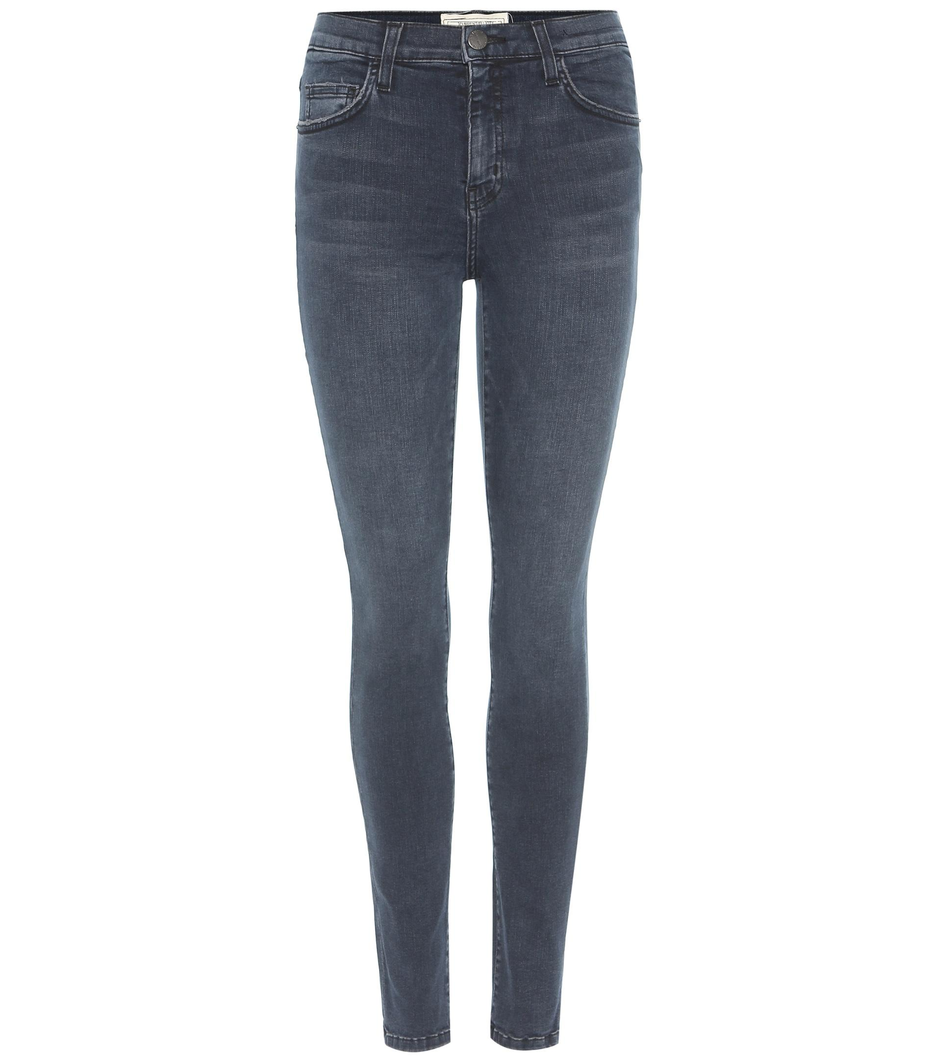 Current/elliott The High Waist Ankle Skinny Jeans in Blue | Lyst