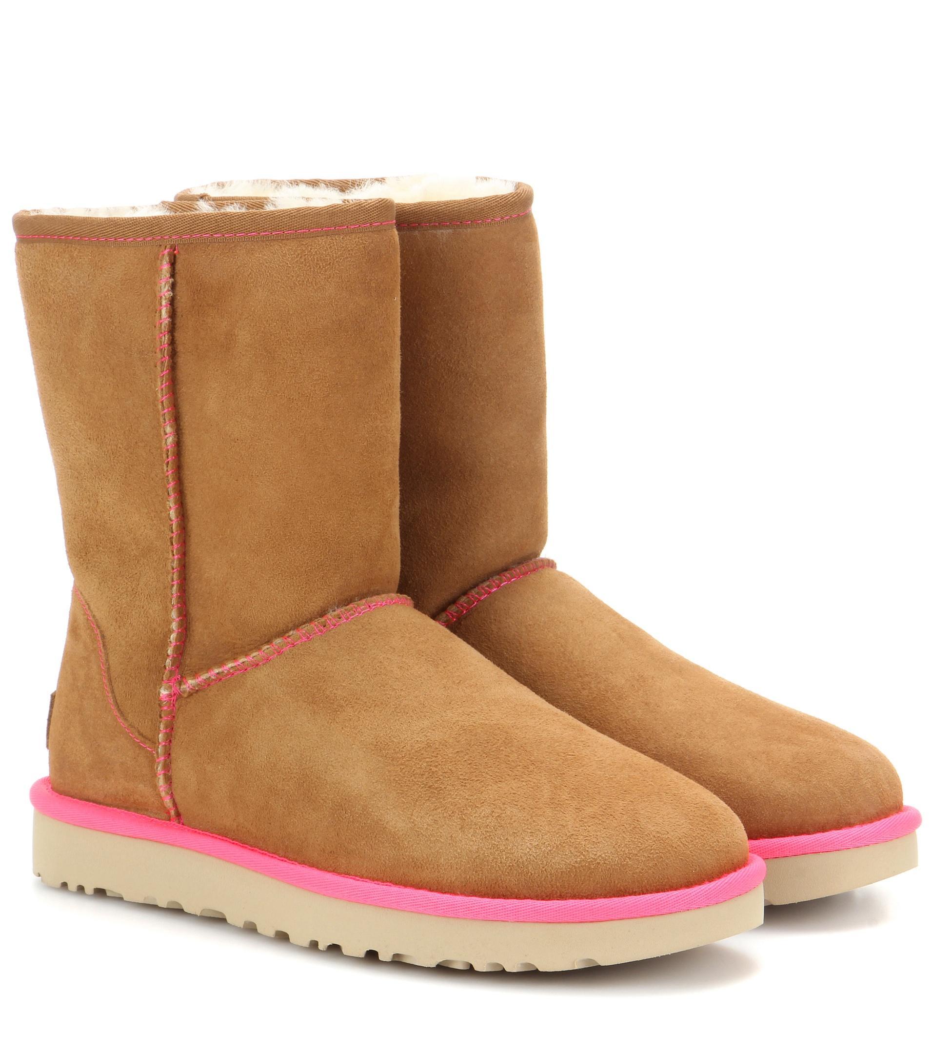 ugg damen boots classic short leather. Black Bedroom Furniture Sets. Home Design Ideas