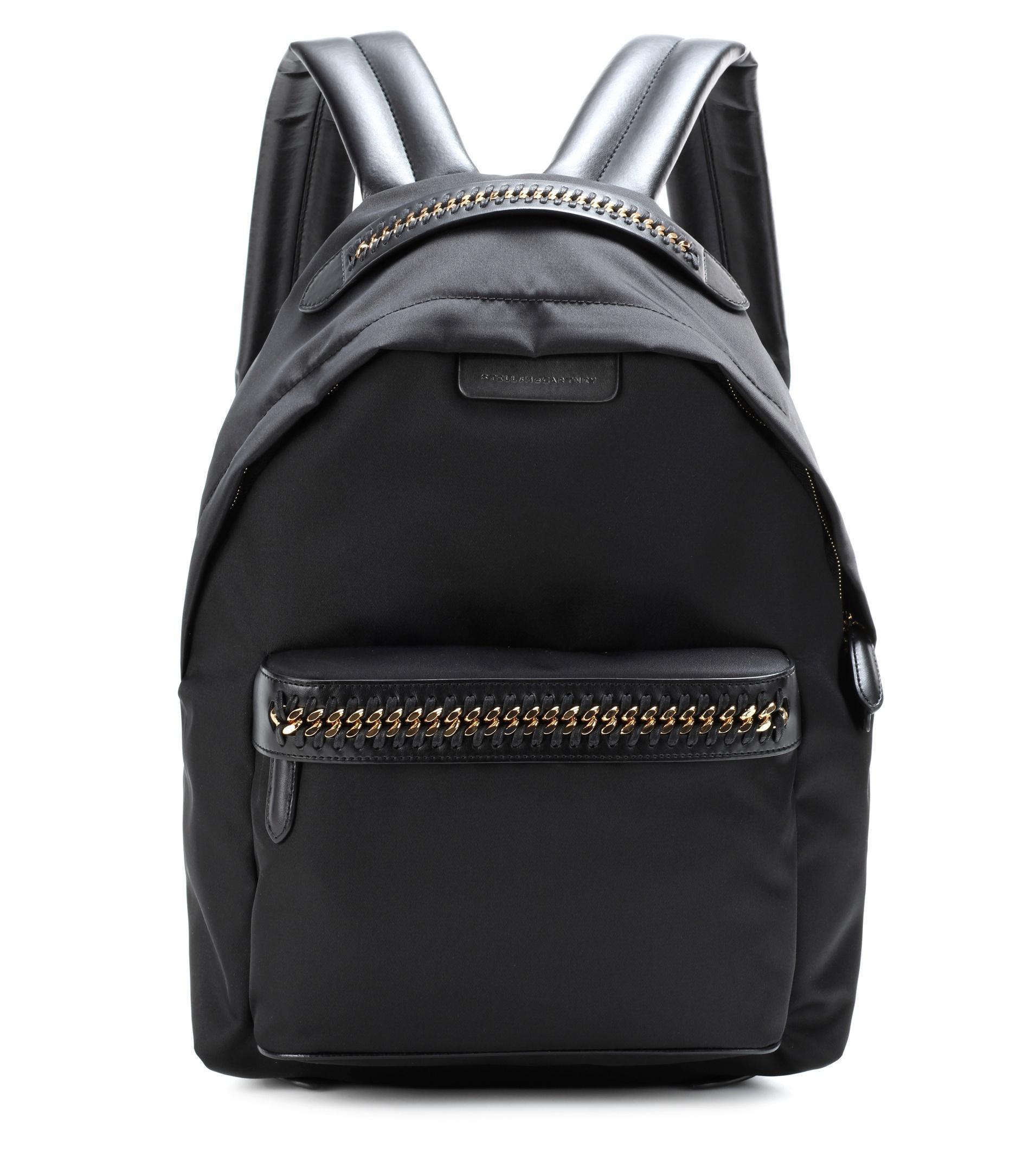 stella mccartney falabella go backpack in black lyst. Black Bedroom Furniture Sets. Home Design Ideas