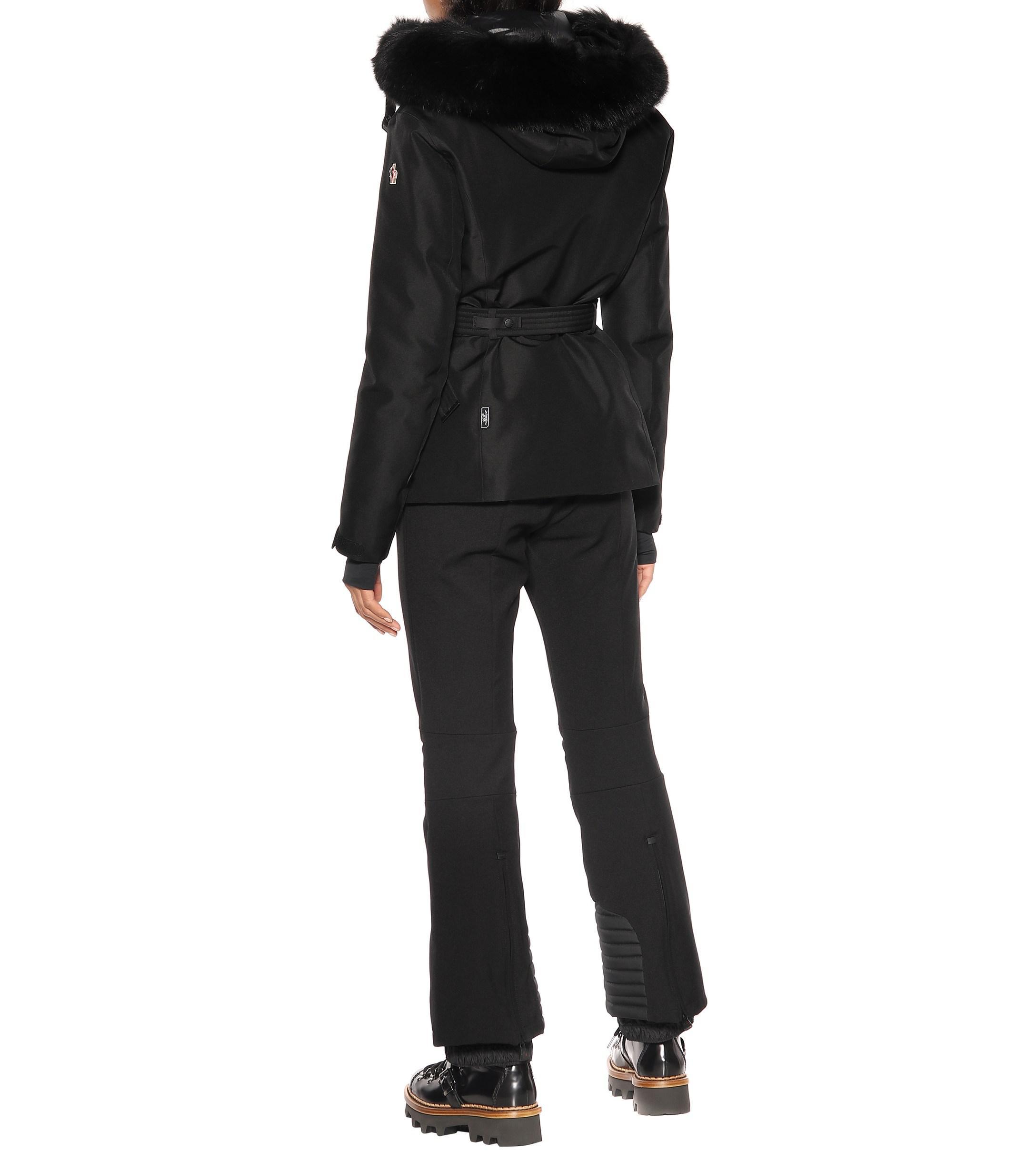 3 MONCLER GRENOBLE Fur Laplance Down Ski Jacket in Black Lyst