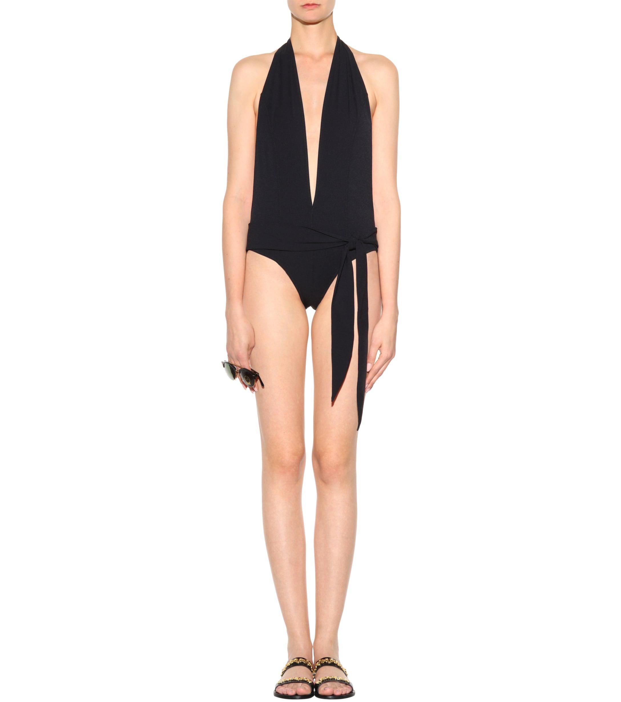 b46b6dcb6c Lisa Marie Fernandez - Black Riri Maillot Swimsuit - Lyst. View fullscreen