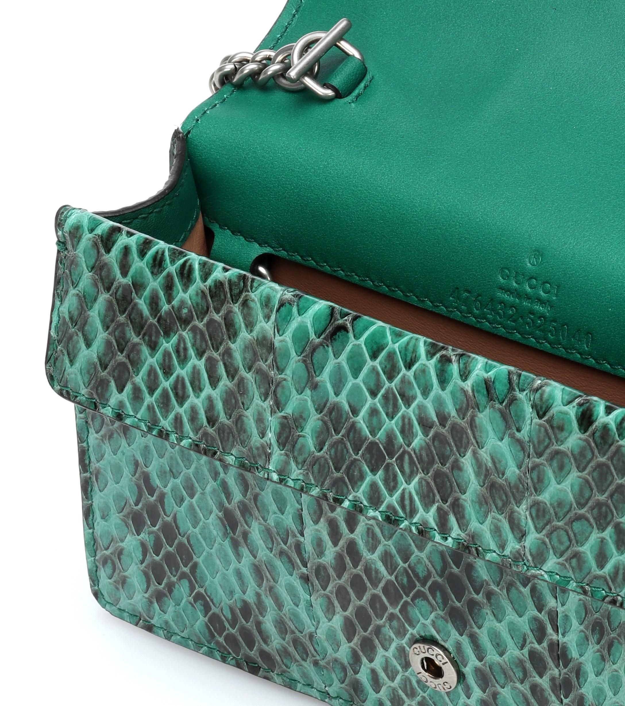 2e6c67168c4b Gucci - Green Dionysus Super Mini Crossbody Bag - Lyst. View fullscreen