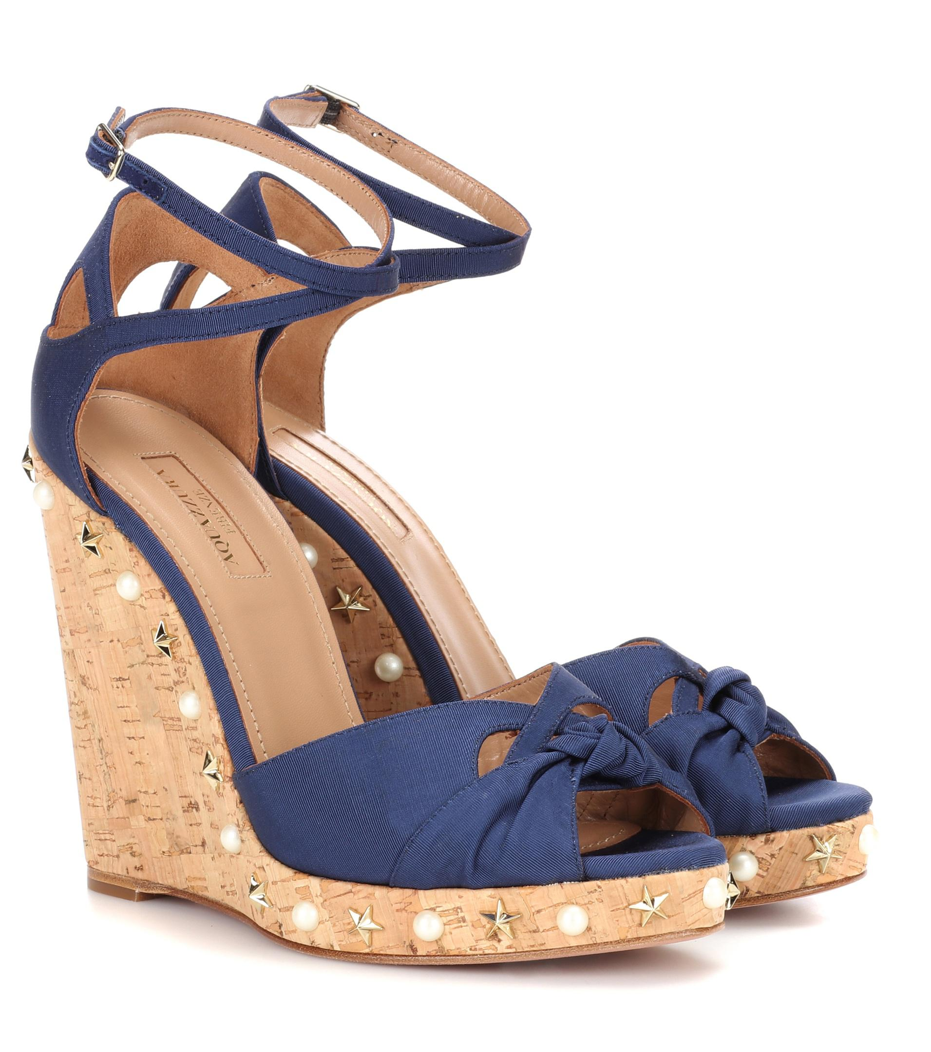 Aquazzura Harlow Wedge 115 wedge sandals high quality sale online clearance 100% original D56Z3