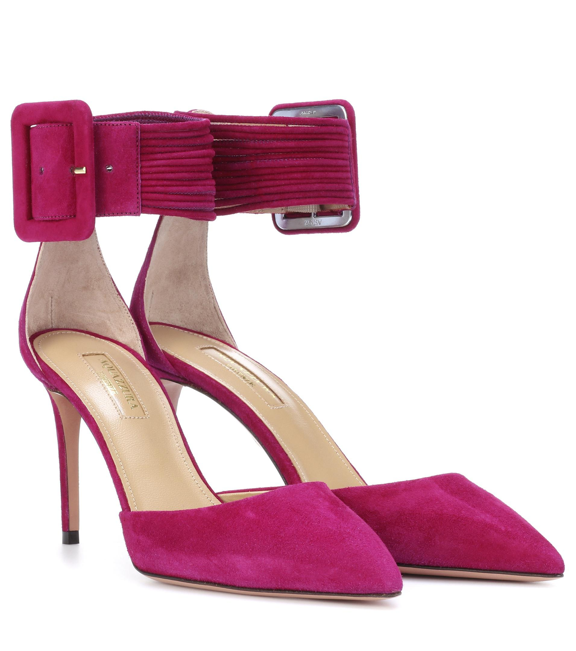 Shop Offer For Sale Aquazzura Casablanca 85 suede pumps Looking For Sale Online Big Sale Sale Online Sale Shop 9boEF