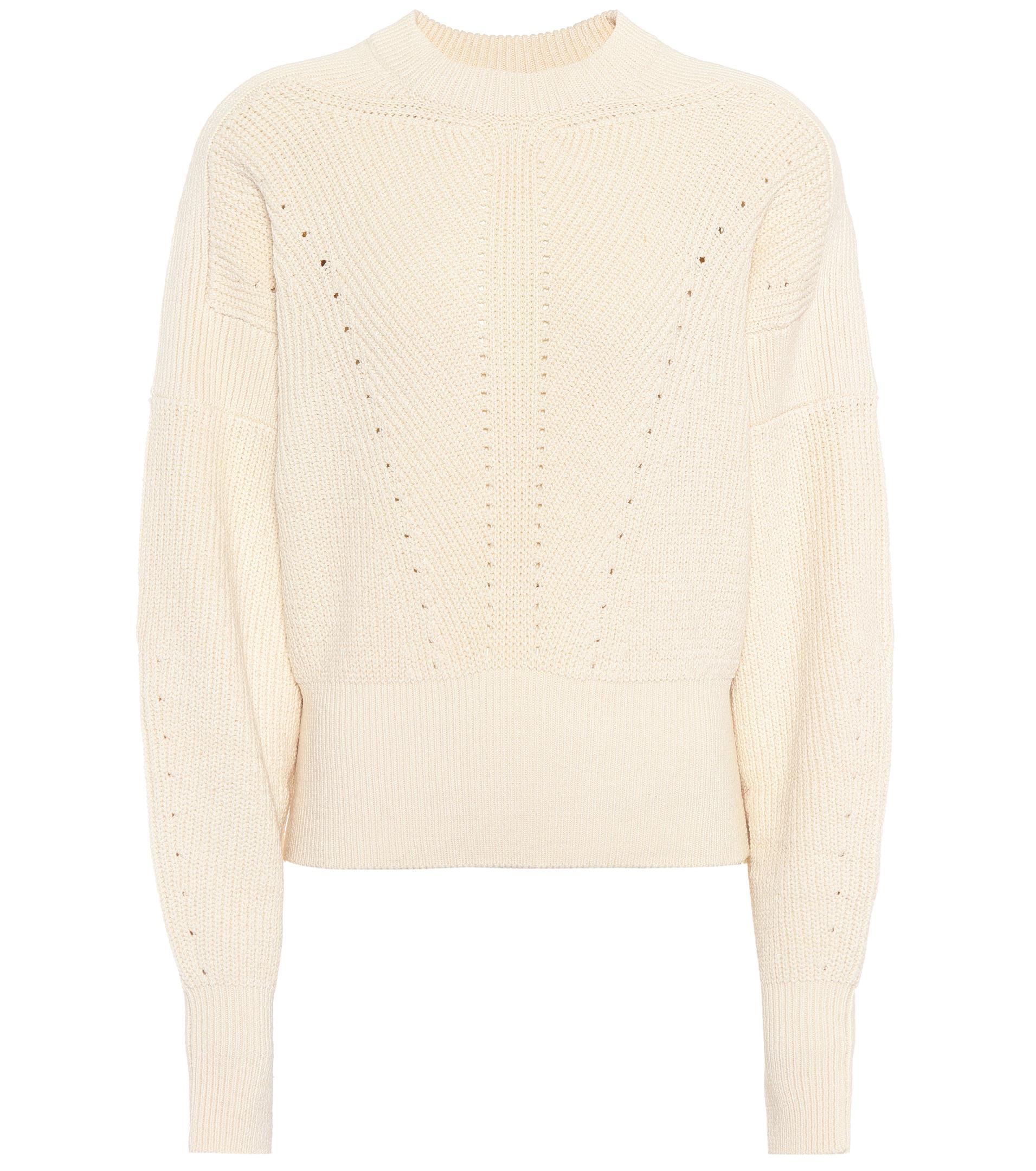 4dc609f683 Isabel Marant Lonnyl Cotton-blend Sweater in White - Lyst