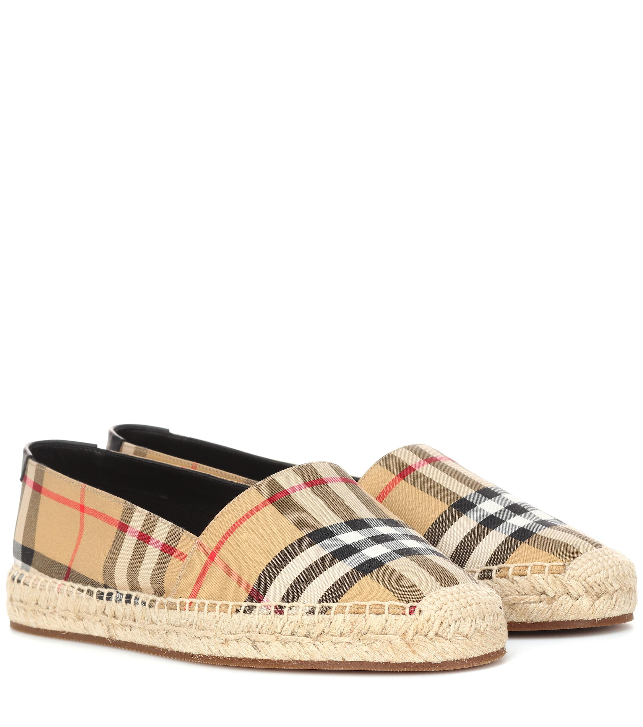 c4b9abe1690 Lyst - Burberry Check Canvas Espadrilles - Save 20%