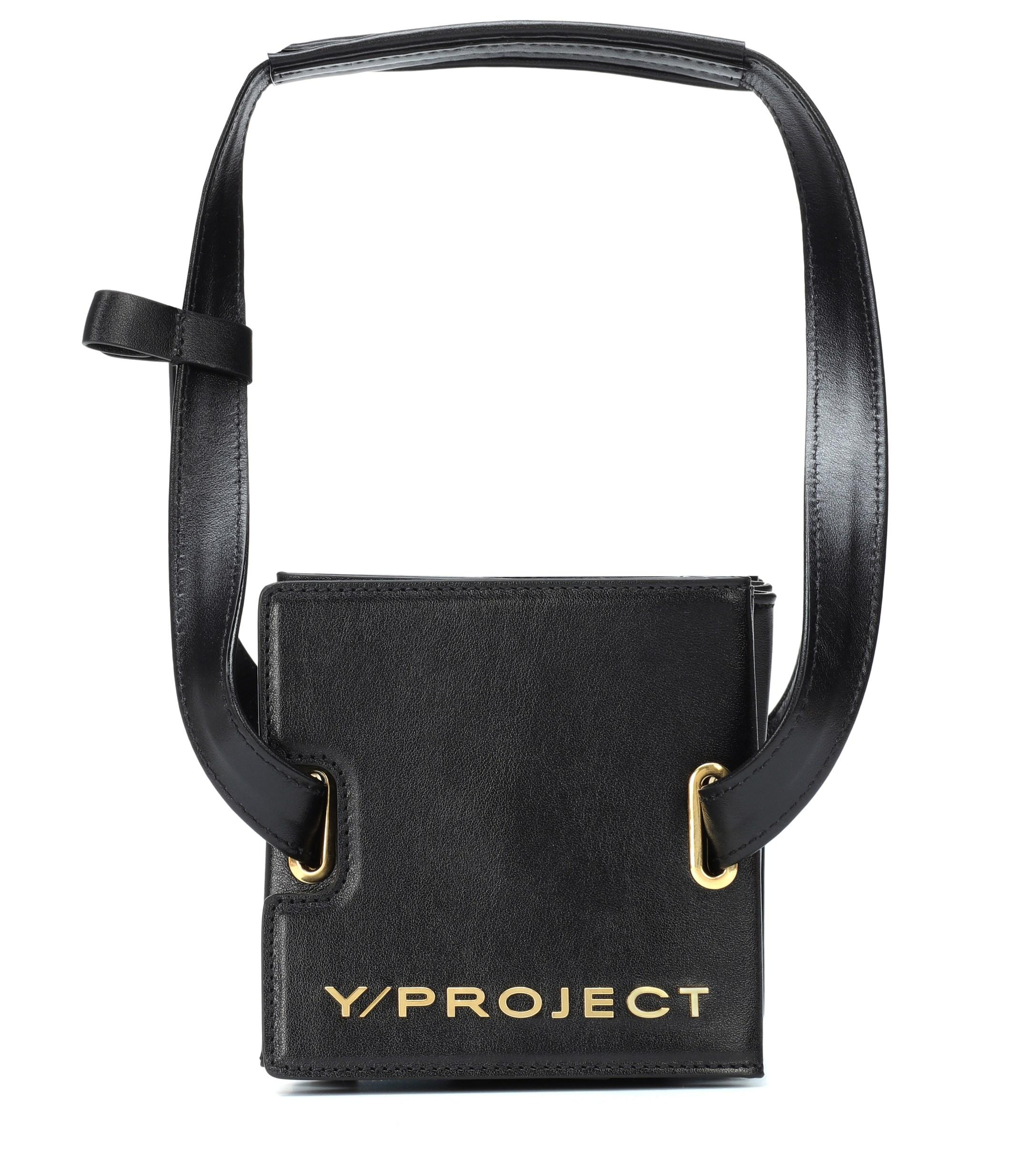 ebbfd361d9fa Y. Project Accordion Leather Shoulder Bag in Black - Lyst
