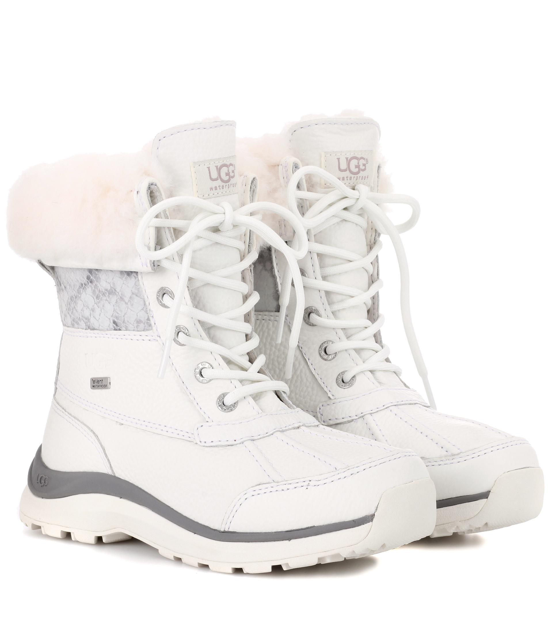 a8def96ae8e Ugg White Adirondack Iii Leather Boots