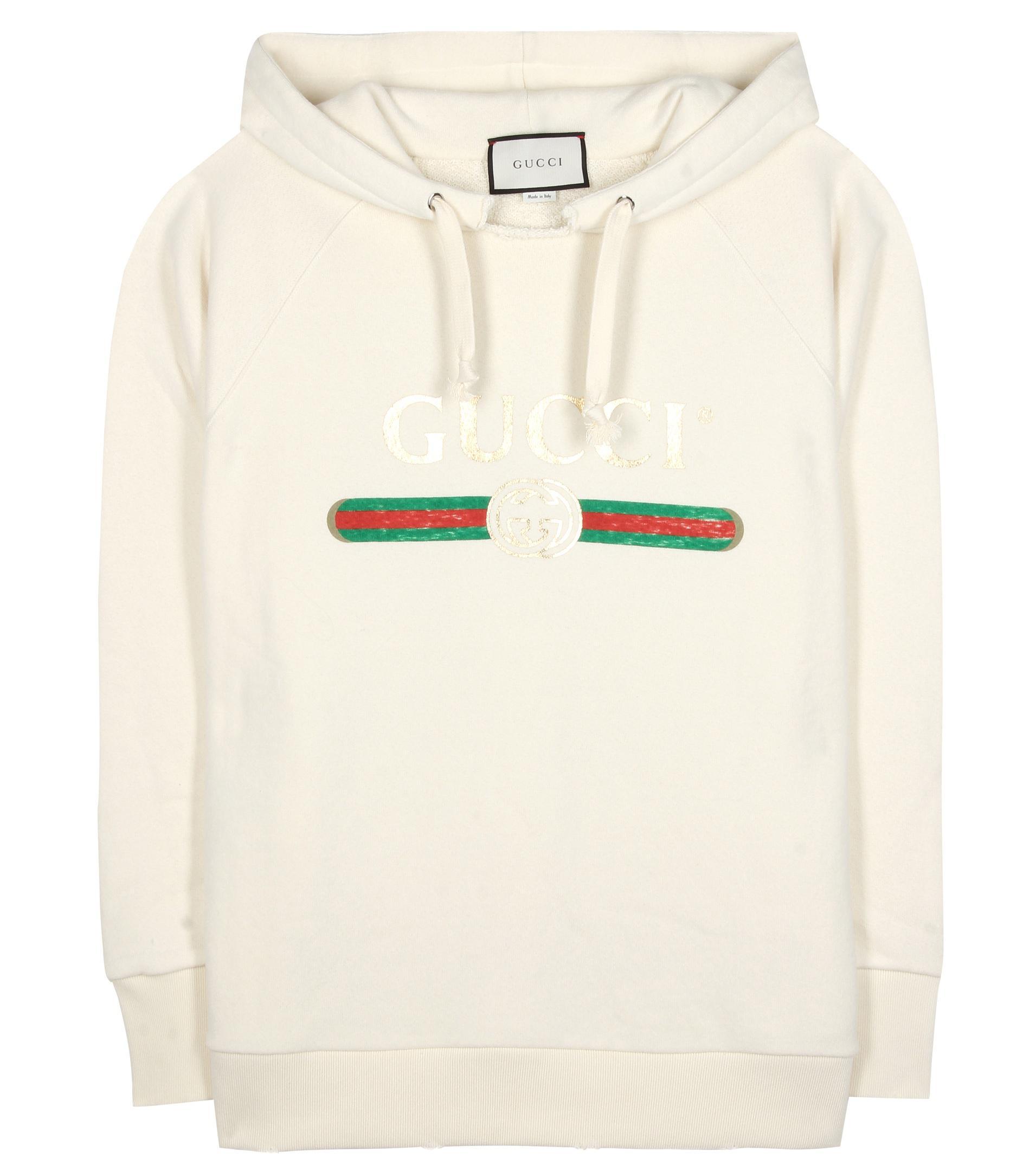 Damen Verziertes Sweatshirt aus Baumwolle in weiß
