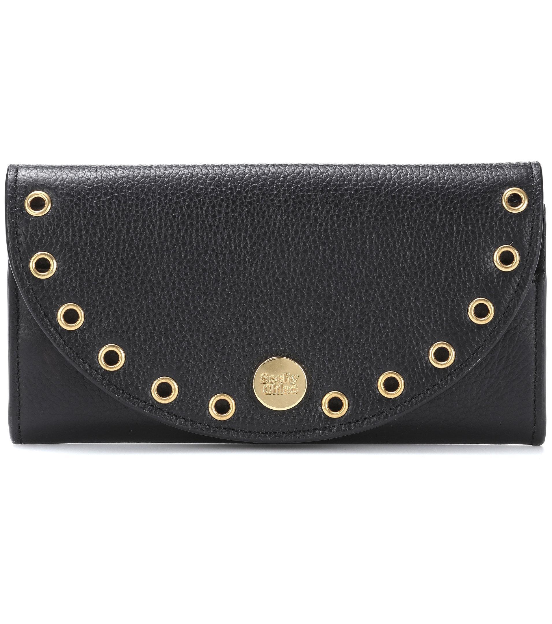 Kriss embellished leather card holder See By Chlo 48voC
