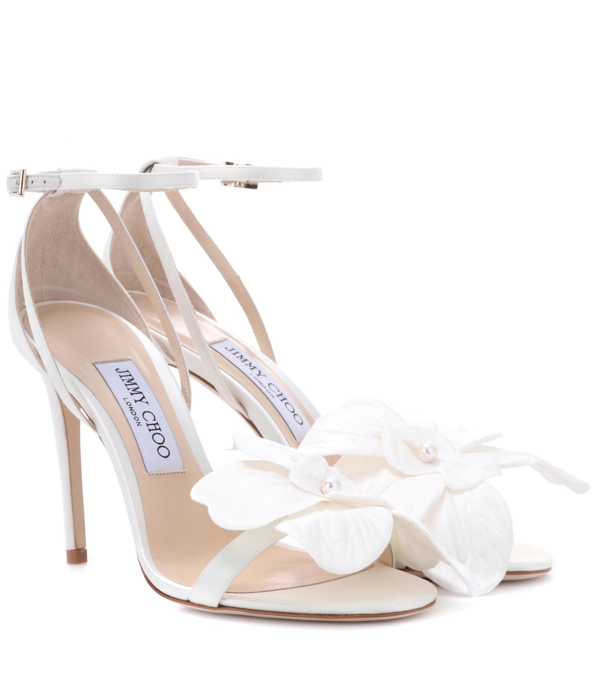 Jimmy Choo Leather Aurelia 100 Sandals