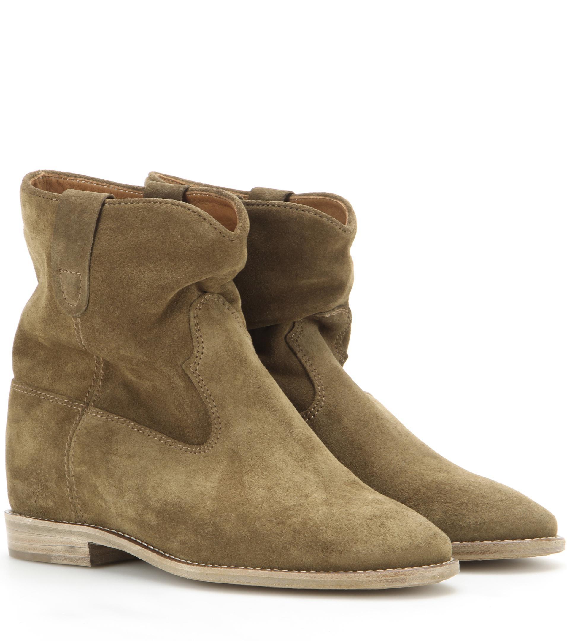 Isabel Marant Crisi Velvet Ankle Boots XI1rNr